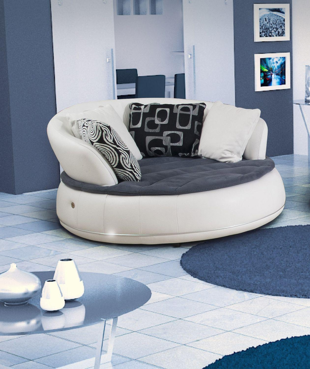 Semicircular Sofa / Round / Contemporary / Leather – Espace – Nieri With Semicircular Sofa (Image 15 of 20)