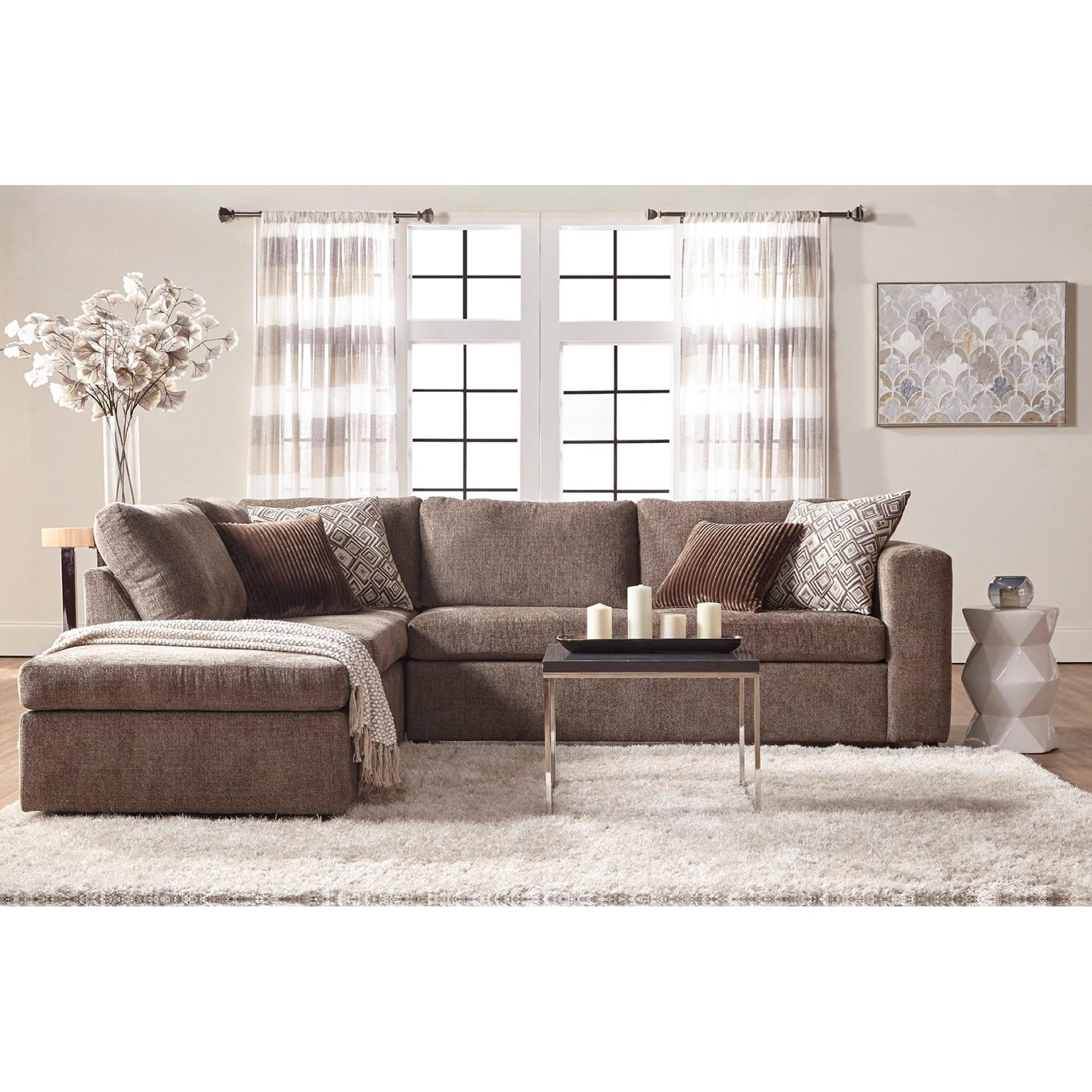 Serta Upholstery Angora Casual Contemporary Sectional Sofa With Regarding Serta Sectional (Image 16 of 20)
