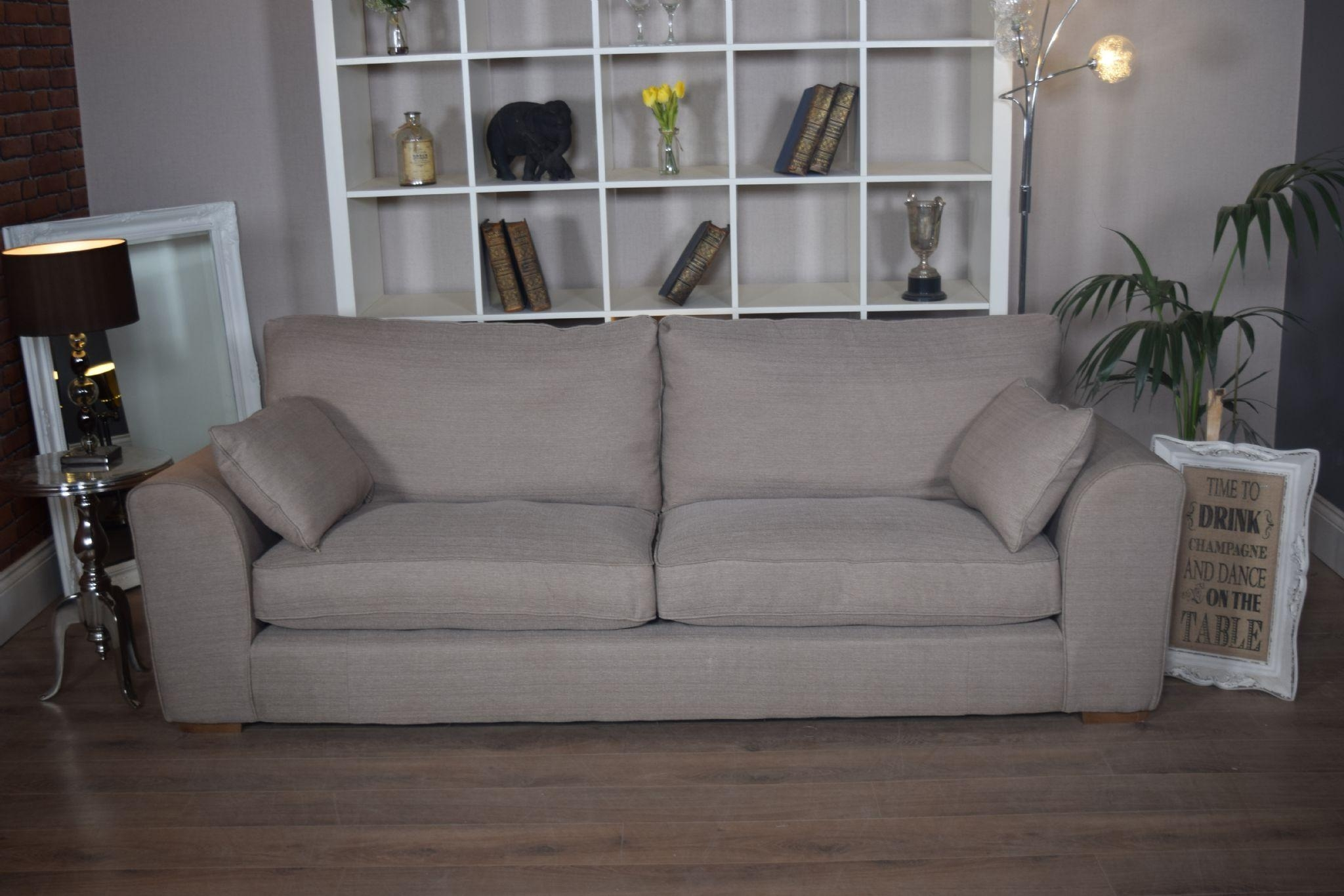 Set New Ashdown 3 Seater Sofa & Cuddle Chair Set – Beige Mink Inside 3 Seater Sofa And Cuddle Chairs (Image 8 of 20)