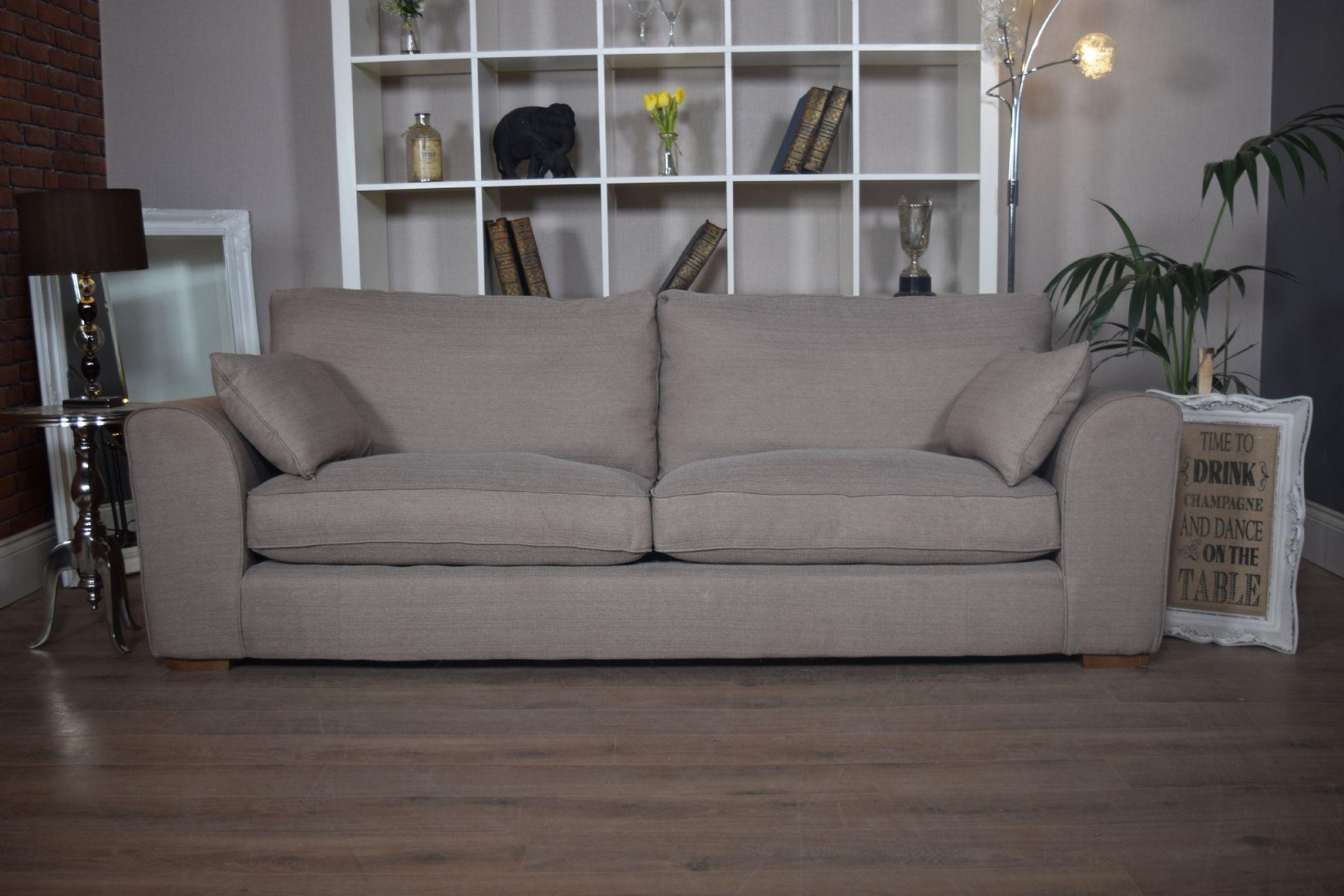 Set New Ashdown 3 Seater Sofa & Cuddle Chair Set – Beige Mink Regarding 3 Seater Sofa And Cuddle Chairs (View 2 of 20)