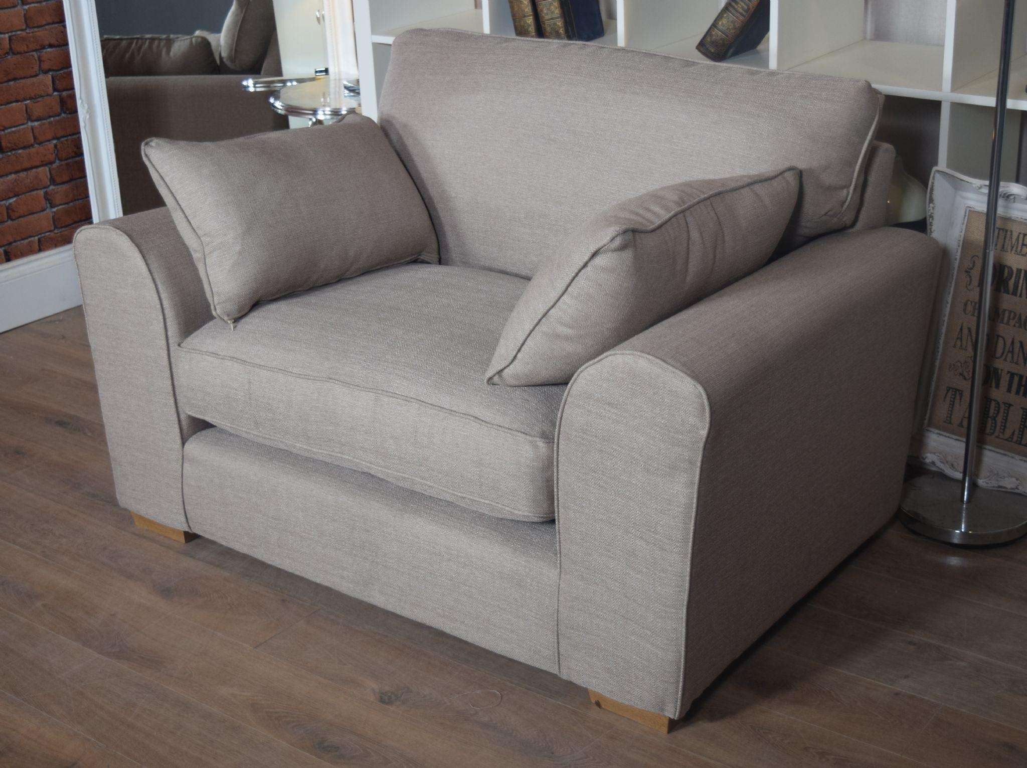 Set New Ashdown 3 Seater Sofa & Cuddle Chair Set – Beige Mink Throughout 3 Seater Sofa And Cuddle Chairs (Image 12 of 20)