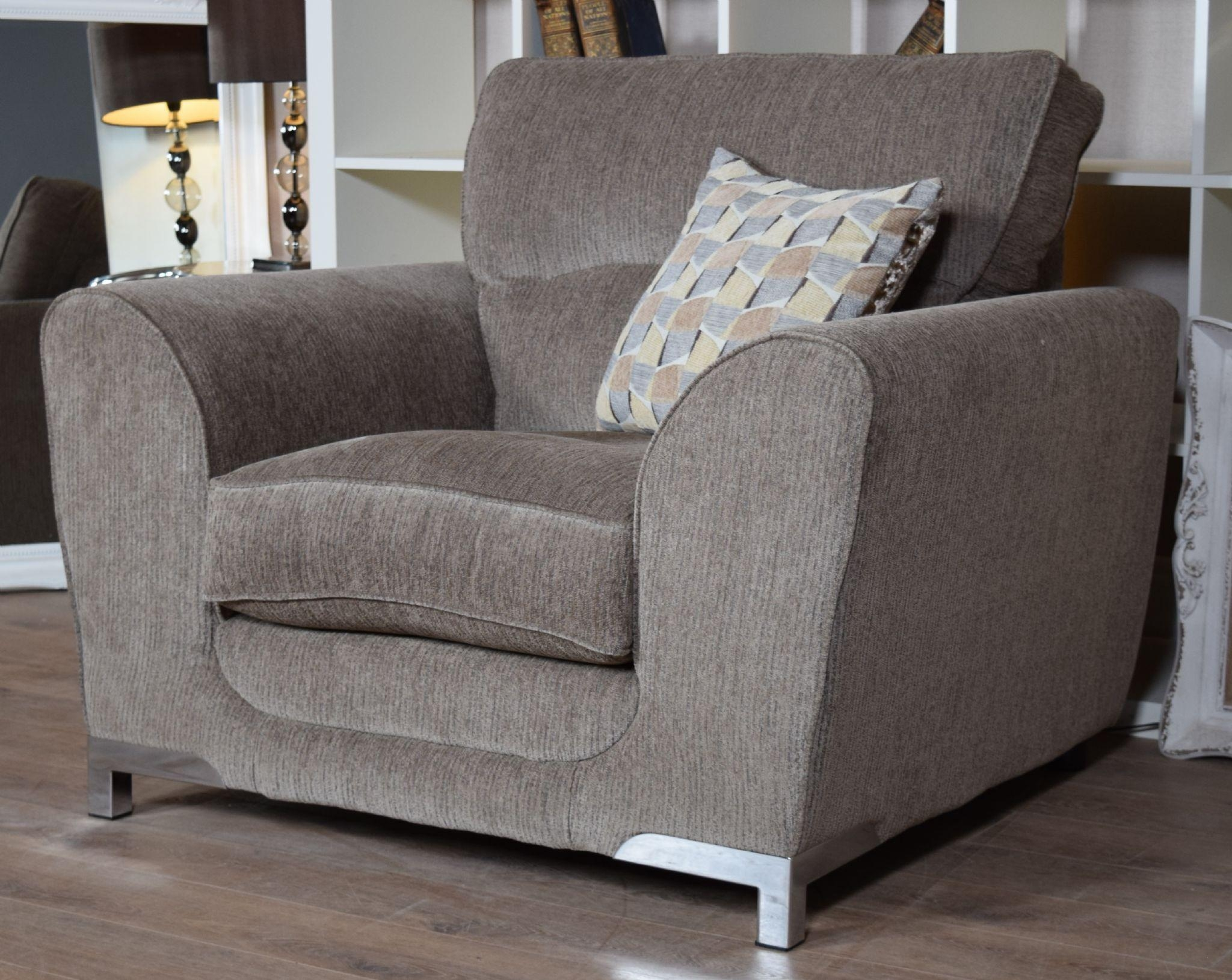 Set Nikki 3 Seater Sofa & Cuddle Chair Suite Set – Mocha Grey For 3 Seater Sofa And Cuddle Chairs (View 4 of 20)