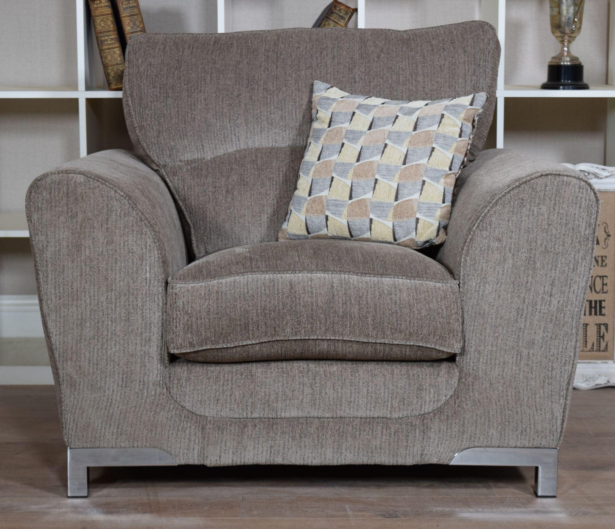 Set Nikki 3 Seater Sofa & Cuddle Chair Suite Set – Mocha Grey Inside 3 Seater Sofa And Cuddle Chairs (Image 15 of 20)