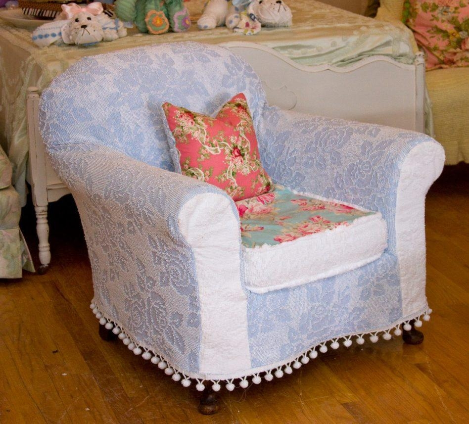 Shabby Chic Ottoman Cover | Stools, Chairs, Seat, And Ottoman In Shabby Chic Sofas Covers (Image 13 of 20)