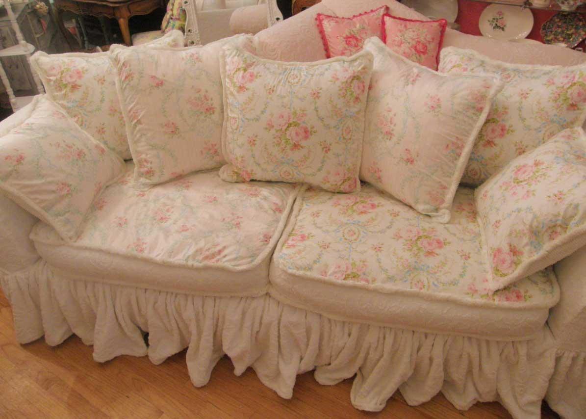 Sofa Ideas Shabby Chic Sofa Slipcovers Explore 5 of 20 Photos