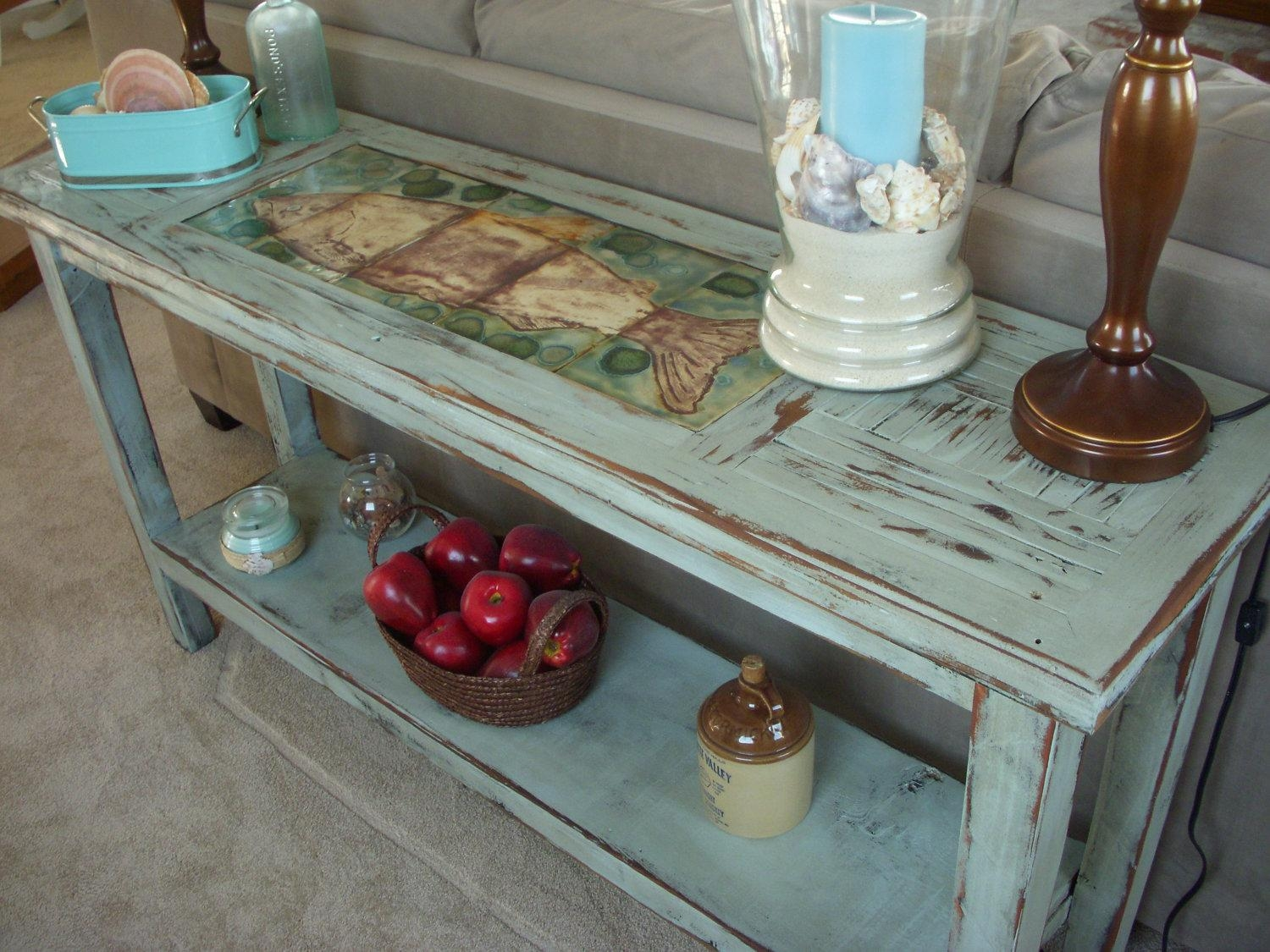 Featured Photo of Shabby Chic Sofa Tables