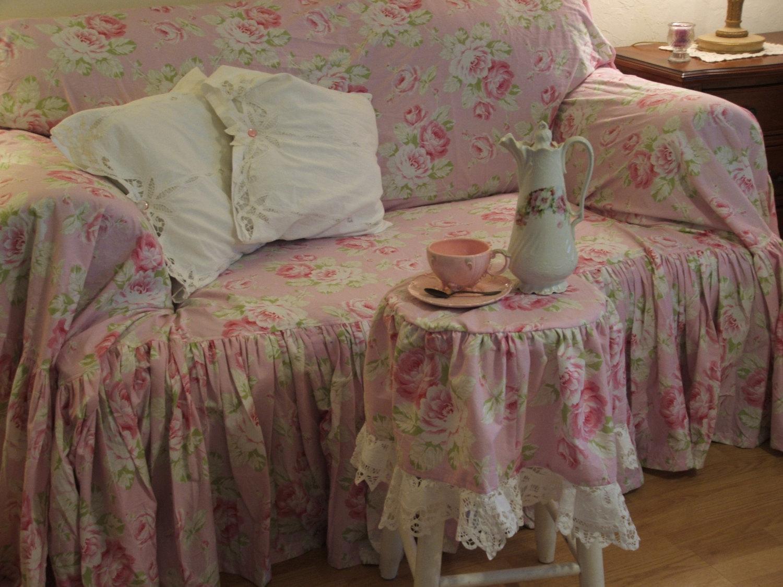 Shabby Chic Sofa Throughout Shabby Slipcovers (Image 16 of 20)