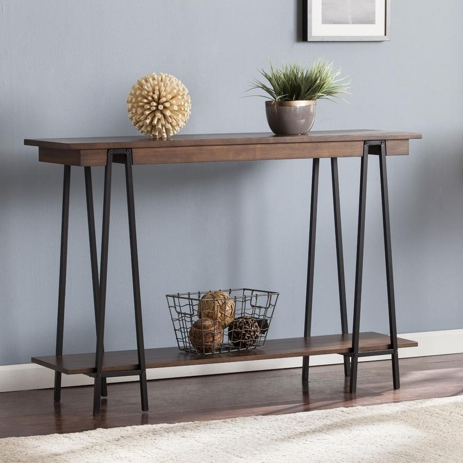 Shop Boston Loft Furnishings Yarman Ash Console Table At Lowes Within Lowes Sofa Tables (Image 2 of 20)