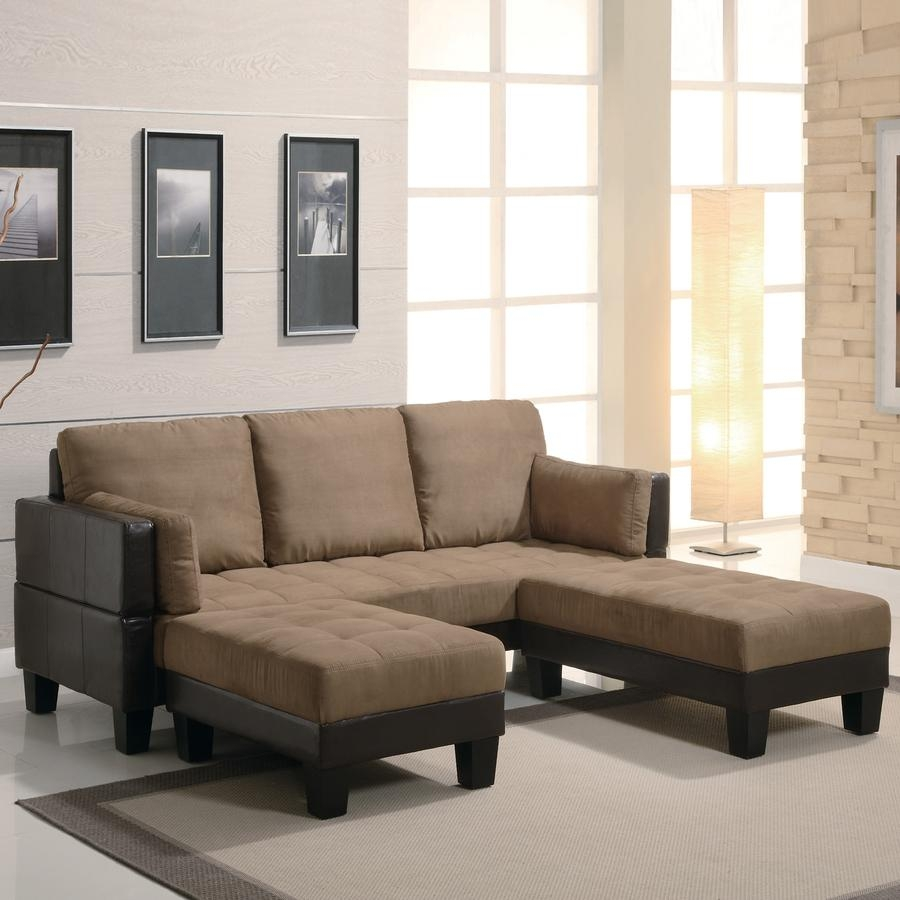 Shop Coaster Fine Furniture Tan/dark Brown Microfiber Sofa Bed At For Microsuede Sofa Beds (Image 13 of 20)