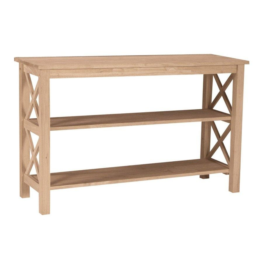 Shop International Concepts Hampton Rubberwood Sofa Table At Lowes Regarding Lowes Sofa Tables (View 12 of 20)