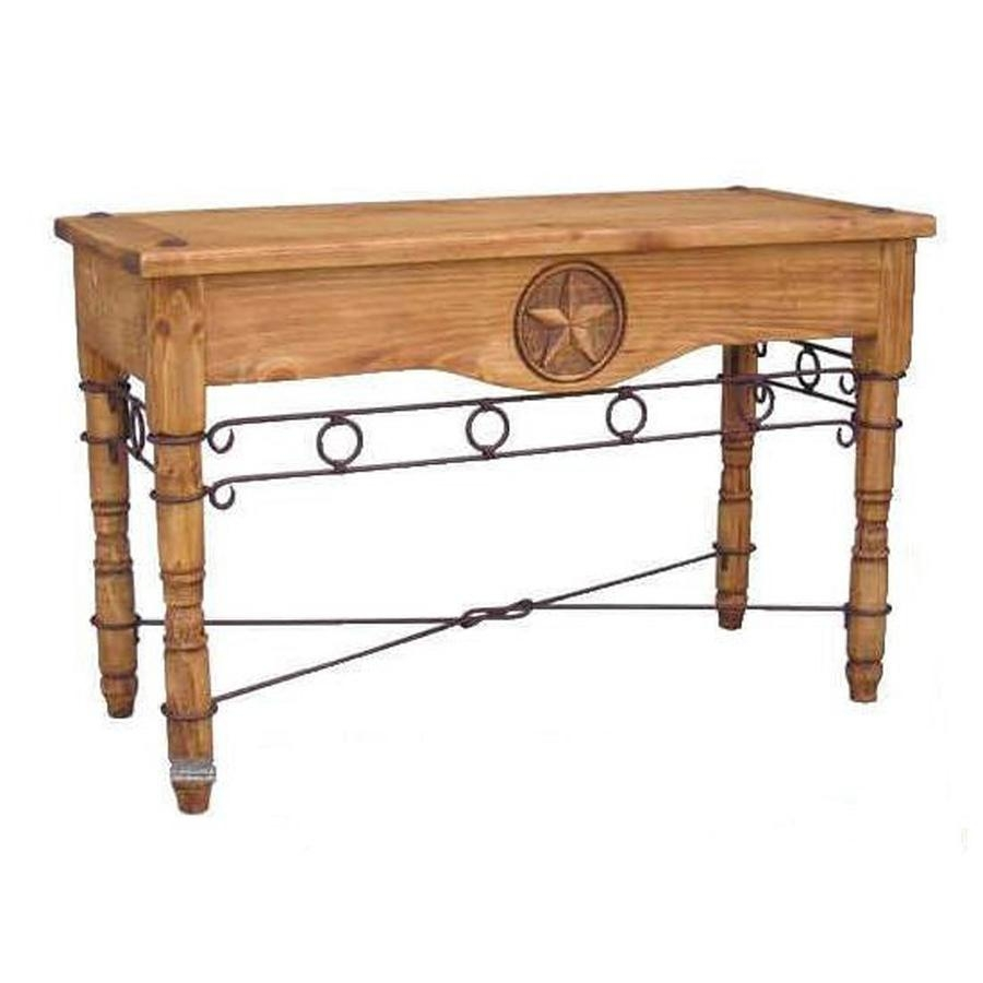 Shop Million Dollar Rustic Pine Sofa Table At Lowes With Regard To Lowes Sofa Tables (View 10 of 20)