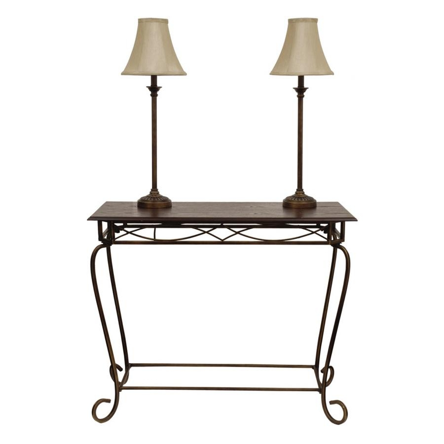 "Shop Style Selections 3 Piece 29 1/4"" Wood/bronze Sofa Table With Pertaining To Lowes Sofa Tables (Image 14 of 20)"