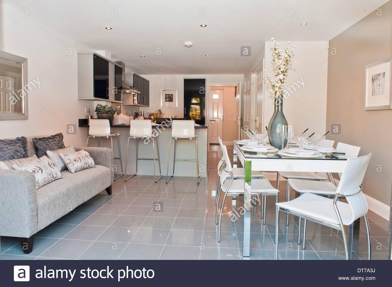 Show Home Kitchen / Diner With Sofa Stock Photo, Royalty Free With Sofas For Kitchen Diner (View 2 of 21)