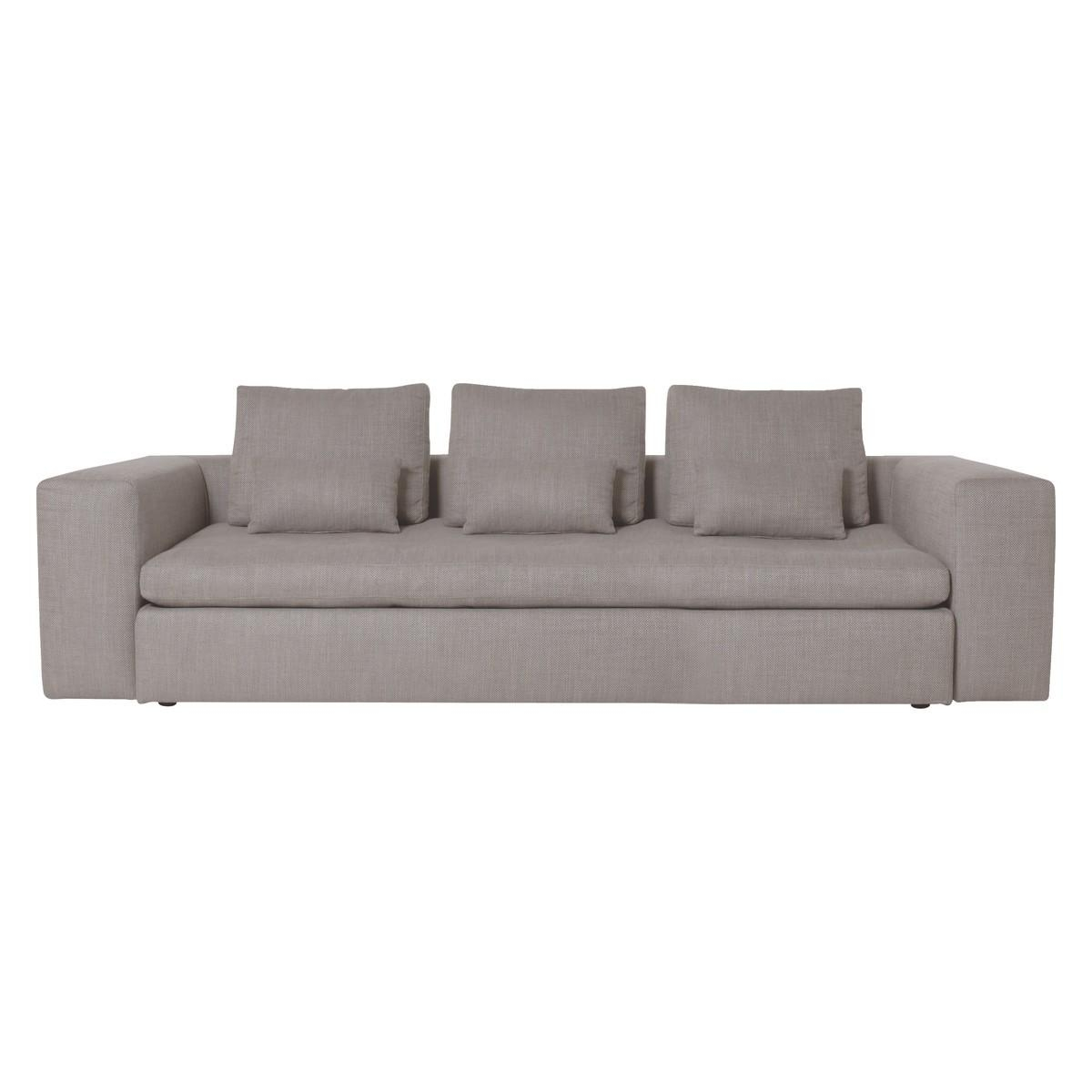 Sidney Light Grey Fabric Large 3 Seater Sofa | Buy Now At Habitat Uk Inside Large 4 Seater Sofas (Image 18 of 20)