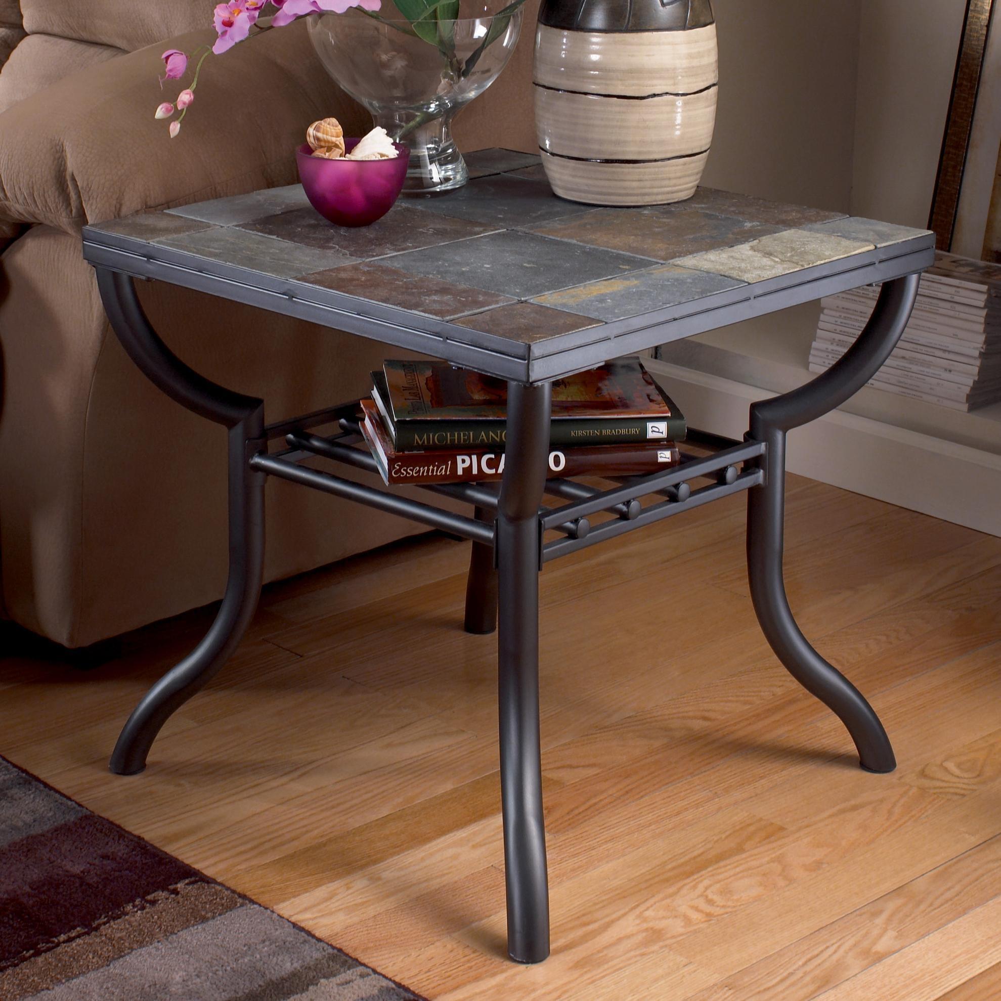 Signature Designashley Antigo Slate Top Square End Table With Slate Sofa Tables (Image 7 of 20)