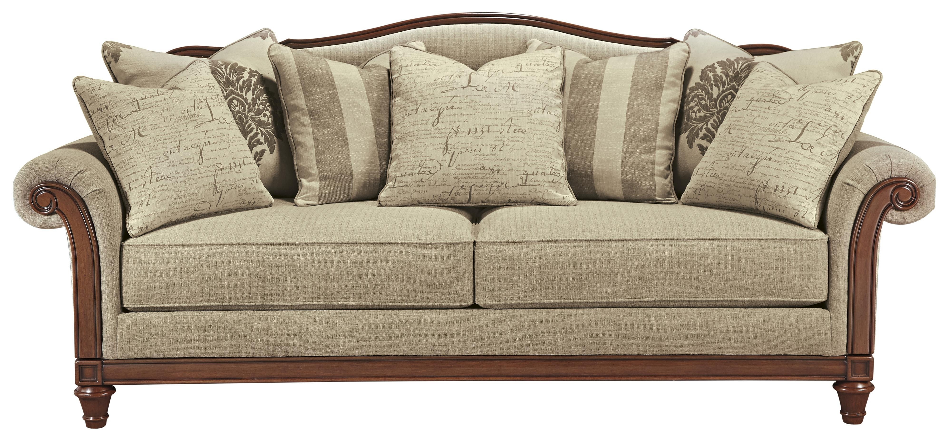 Signature Designashley Berwyn View Transitional Sofa With Within Camel Color Sofas (Image 15 of 20)