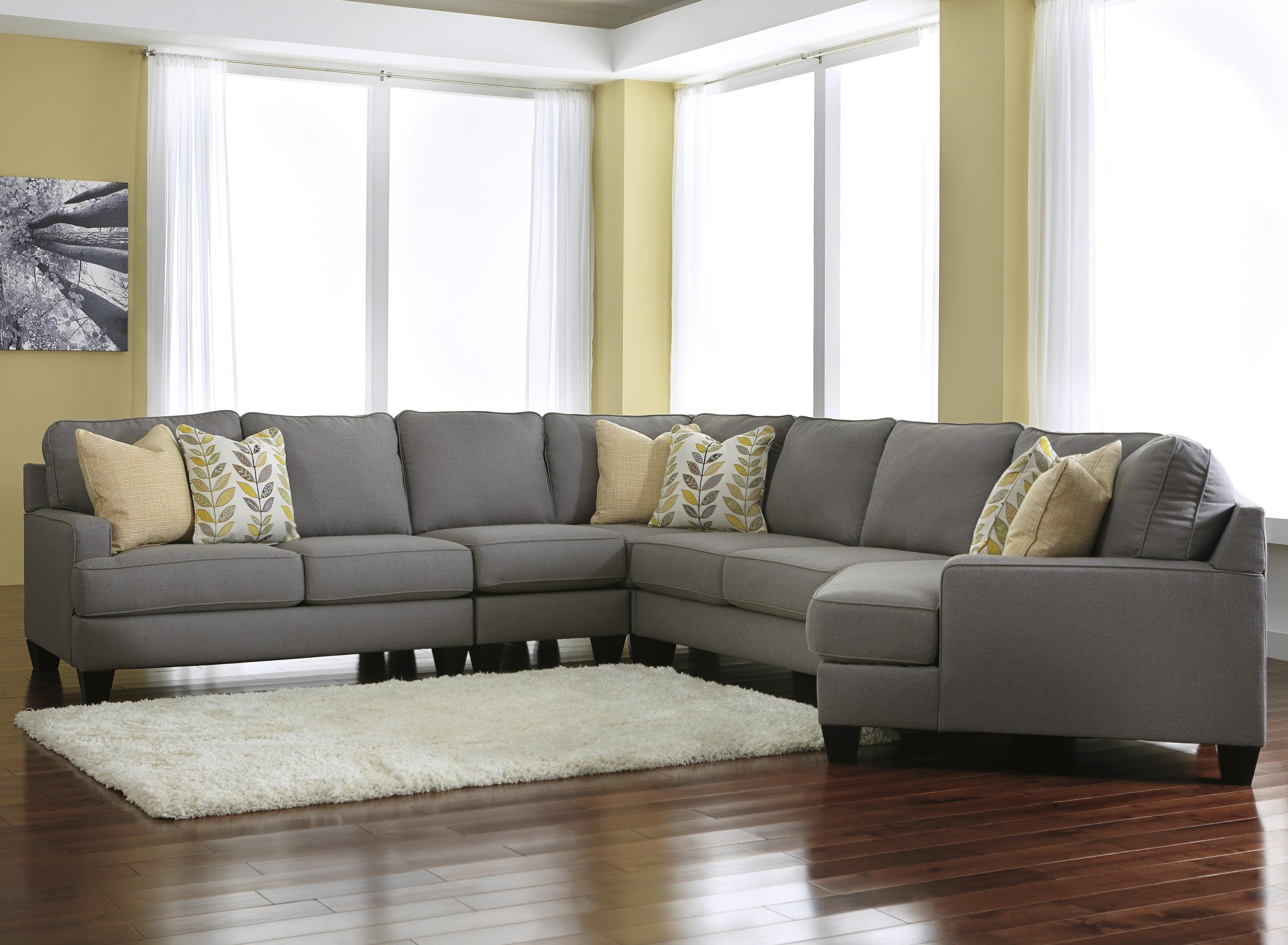 Signature Designashley Chamberly – Alloy Modern 5 Piece Throughout Cuddler Sectional Sofa (View 8 of 15)