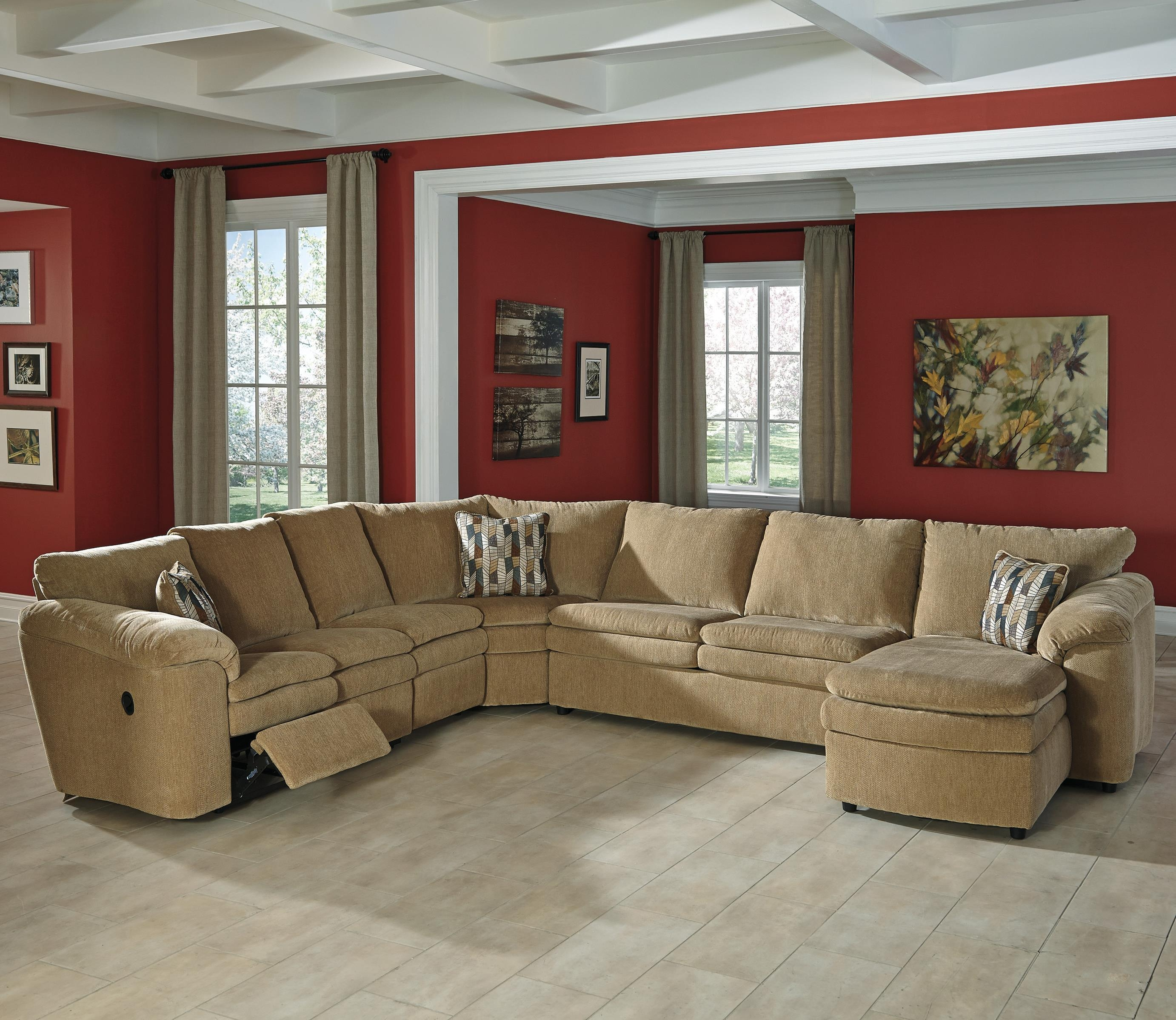 Signature Designashley Coats Casual Contemporary 5 Piece Pertaining To Sectional With Recliner And Sleeper (Image 18 of 20)