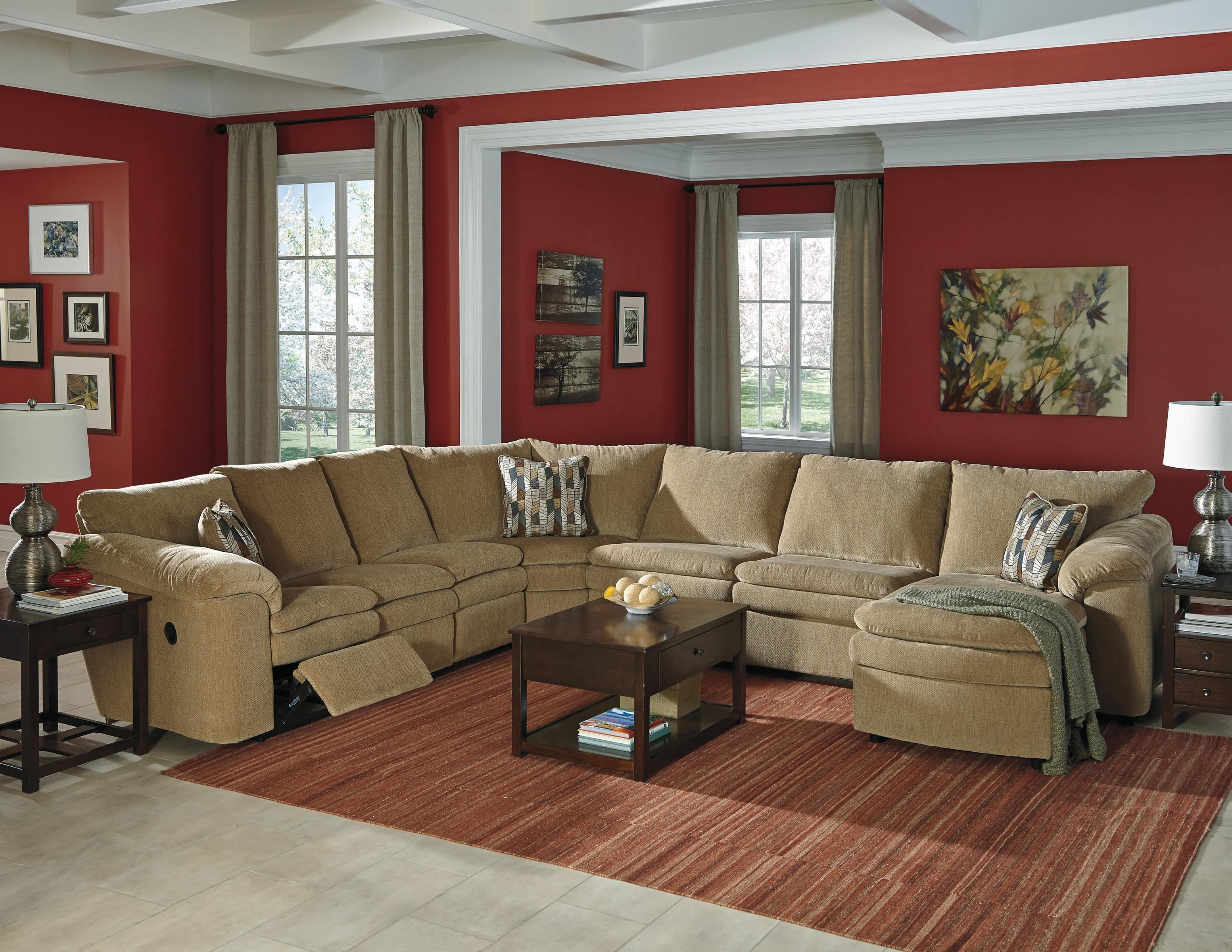 Signature Designashley Coats Casual Contemporary 5 Piece Throughout Ashley Sectional Sleeper (View 12 of 15)