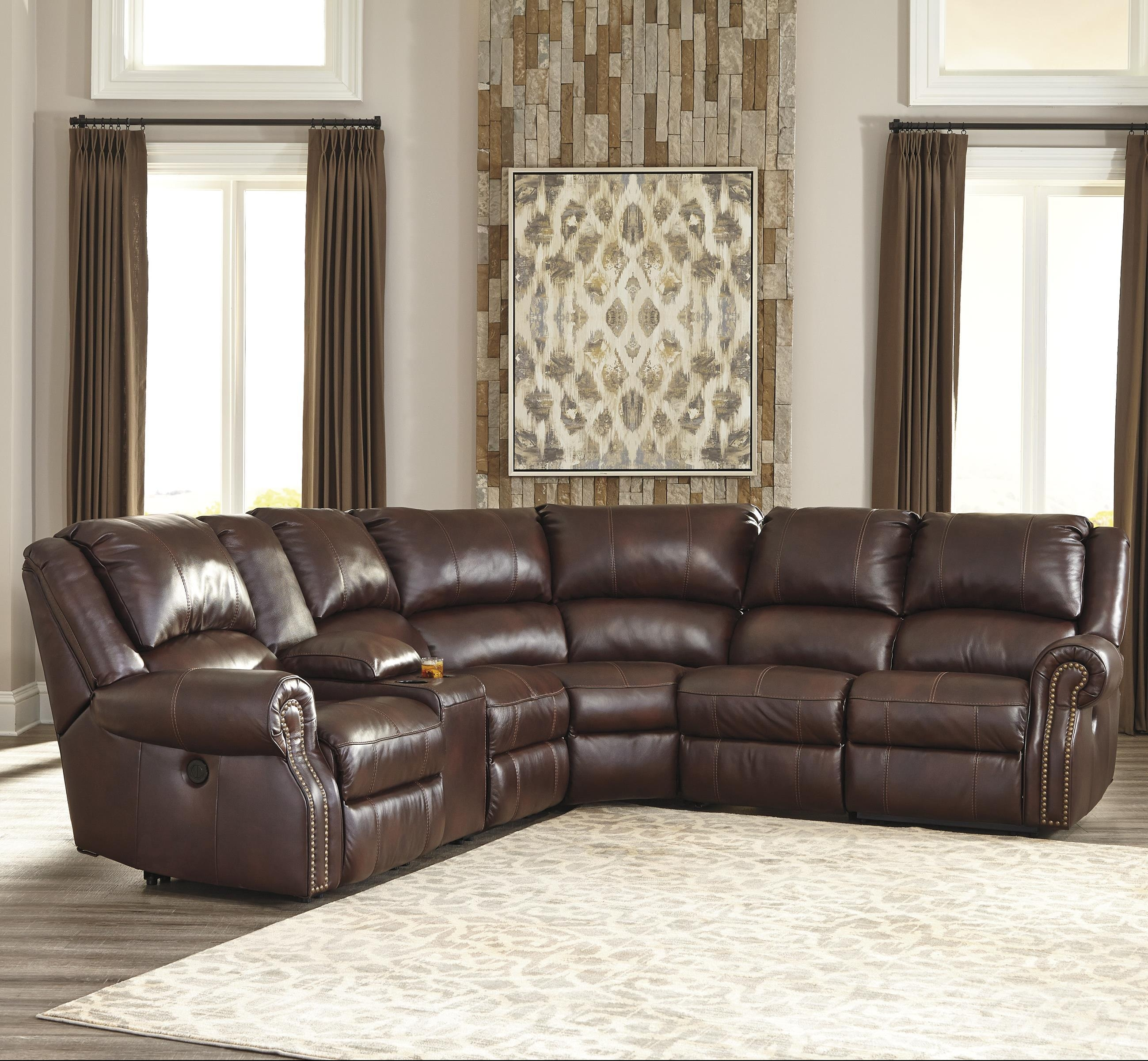 Signature Designashley Collinsville 6 Piece Reclining In 6 Piece Leather Sectional Sofa (View 13 of 15)