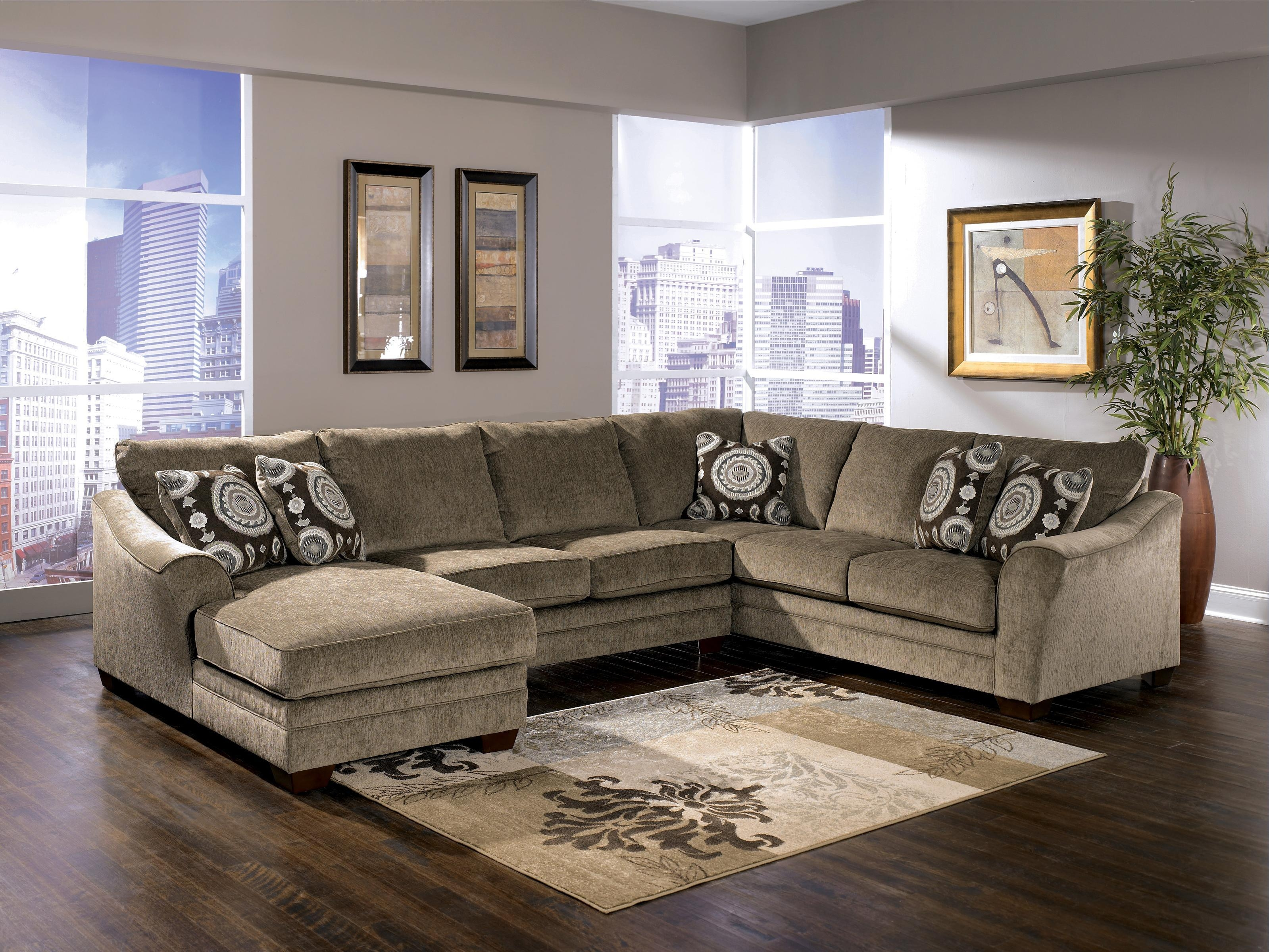 Signature Designashley Cosmo – Marble Sectional Sofa With With Signature Design Sectional Sofas (Image 8 of 20)