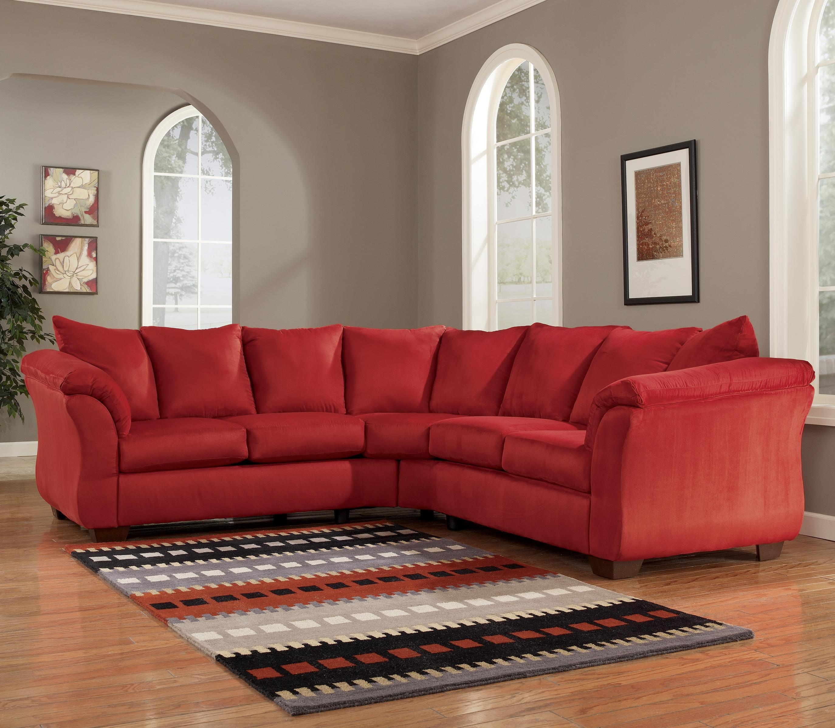 Signature Designashley Darcy – Salsa Contemporary Sectional Throughout Ashley Curved Sectional (Image 12 of 15)