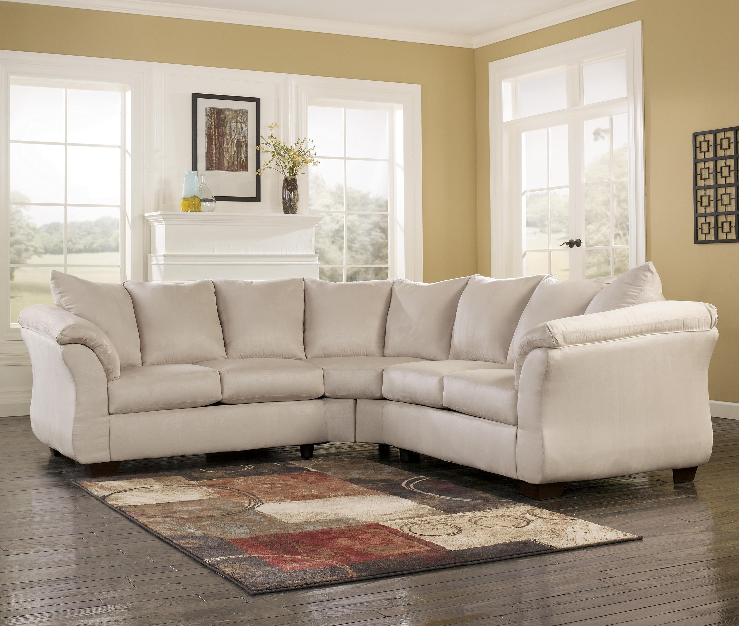 Signature Designashley Darcy – Stone Contemporary Sectional With Regard To Signature Design Sectional Sofas (Image 13 of 20)