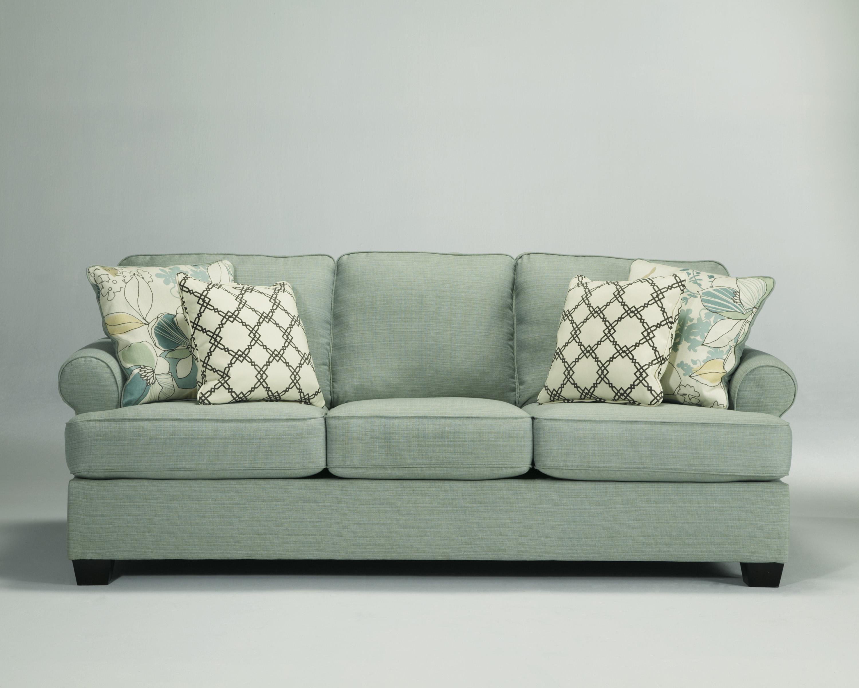 Signature Designashley Daystar Seafoam Queen Sleeper Sofa Inside Seafoam Sofas (Image 18 of 20)
