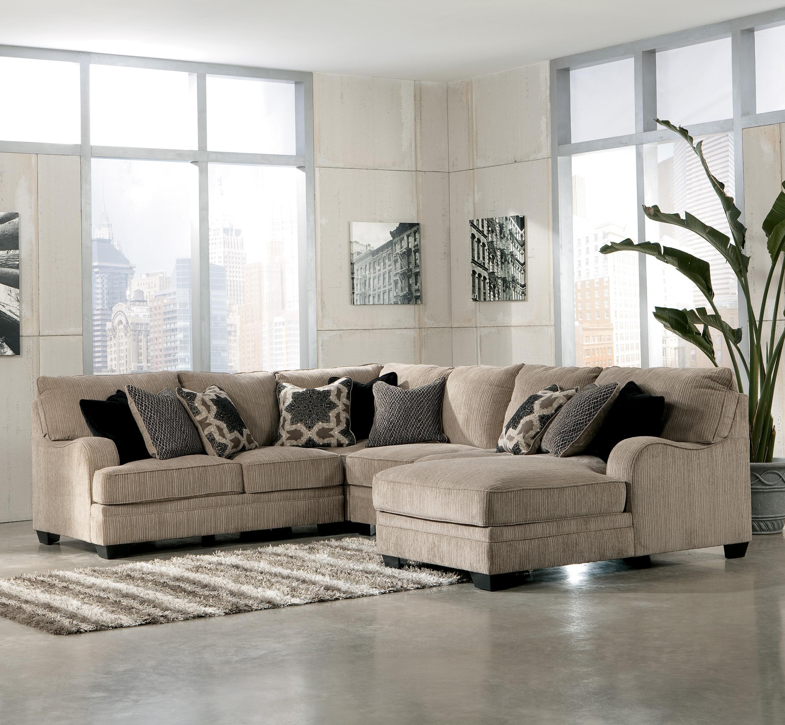 Signature Designashley Katisha – Platinum 5 Piece Sectional For Signature Design Sectional Sofas (Image 19 of 20)