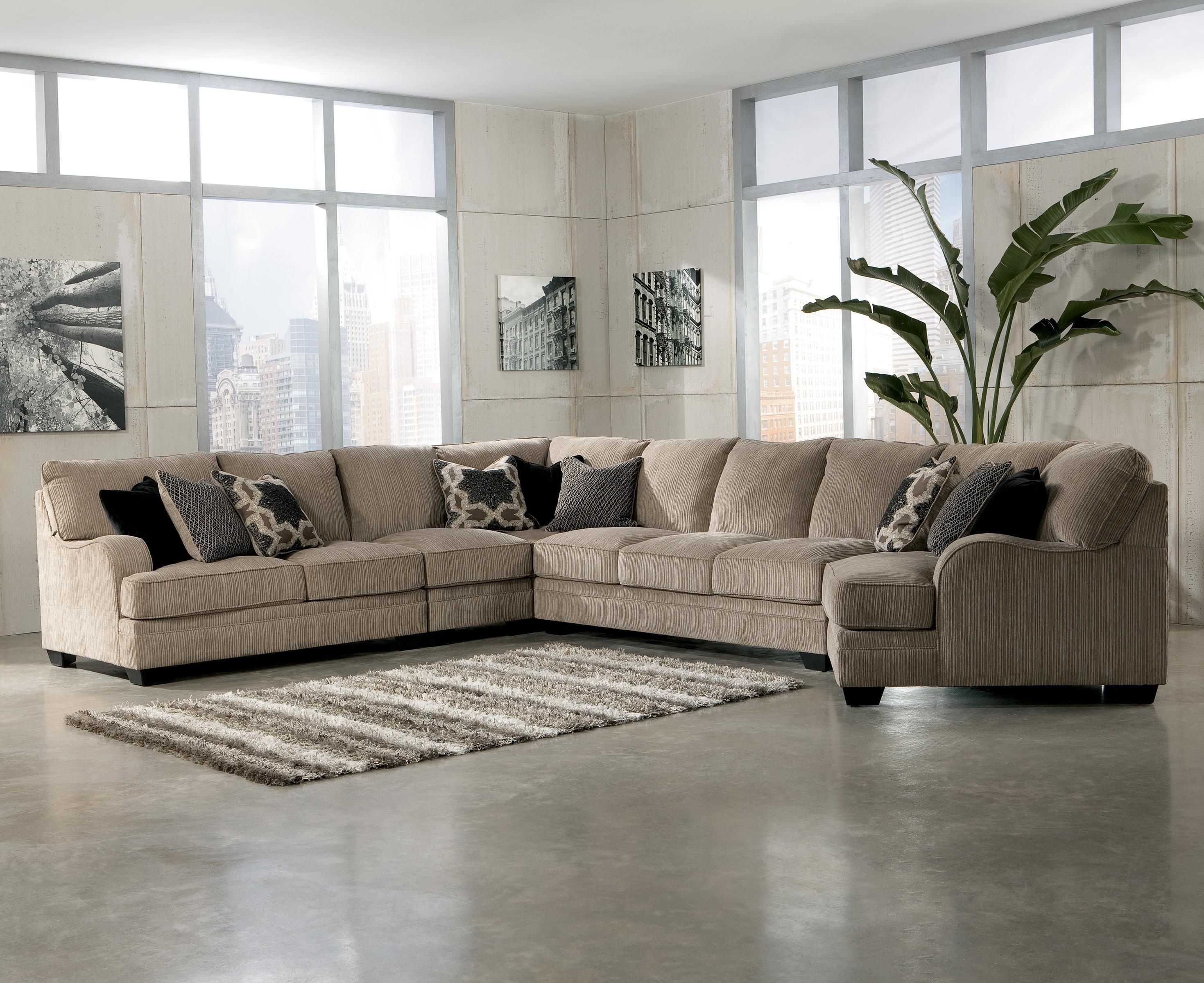 Signature Designashley Katisha – Platinum 5 Piece Sectional Regarding Signature Design Sectional Sofas (Image 20 of 20)