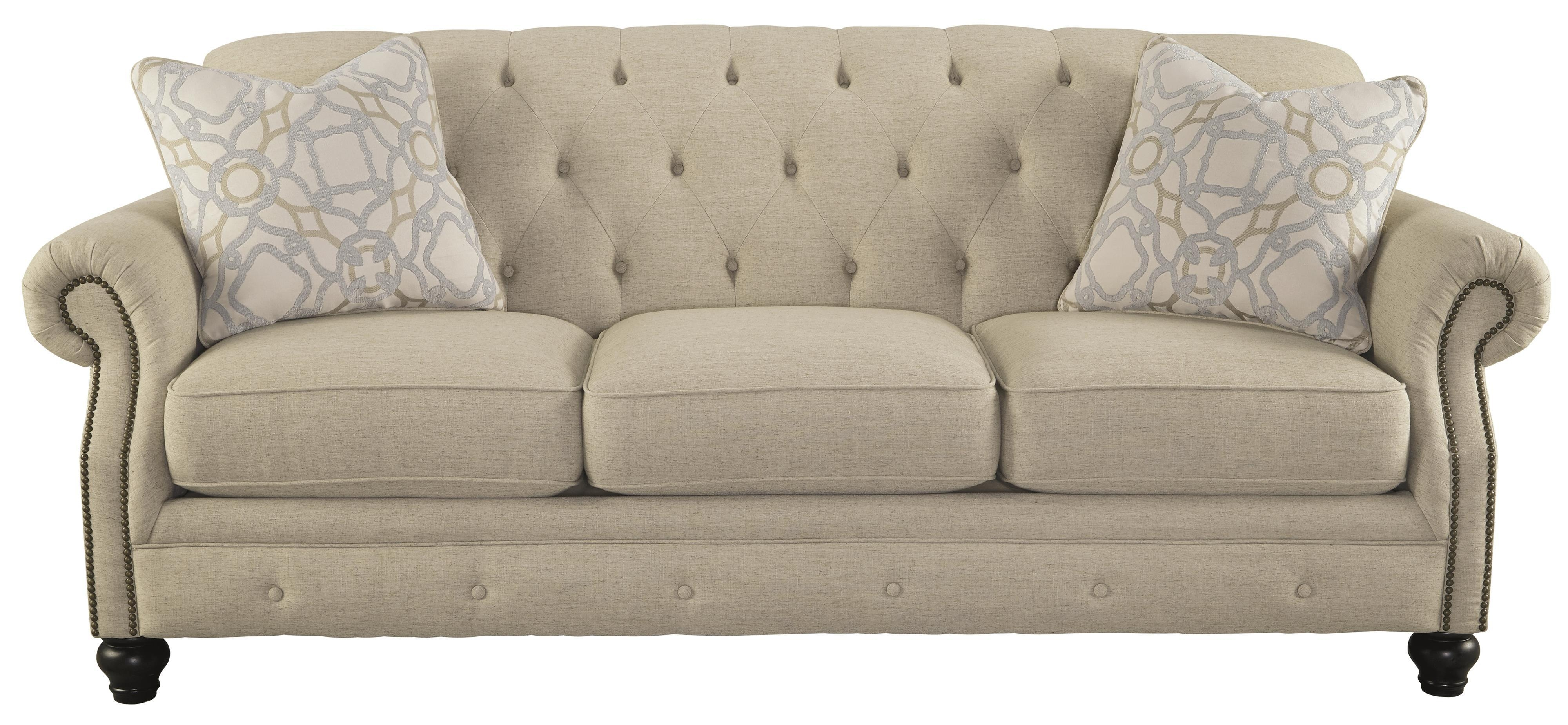 Signature Designashley Kieran Traditional Sofa With Tufted Throughout Ashley Tufted Sofa (View 4 of 20)