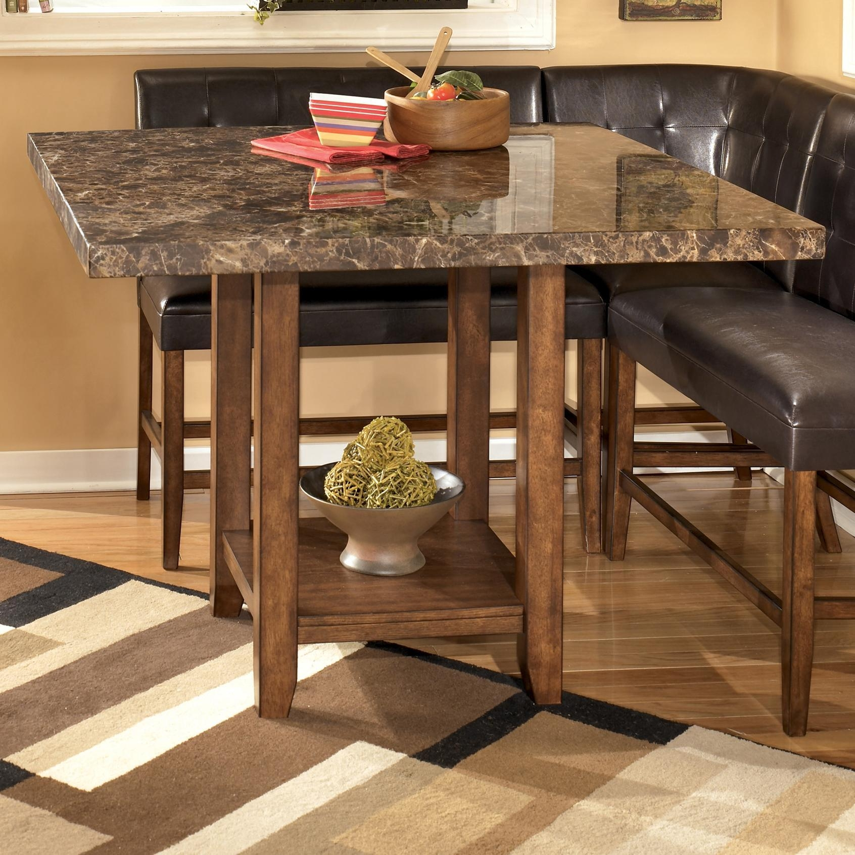 Signature Designashley Lacey Faux Marble Square Counter Height With Counter Height Sofa Tables (View 20 of 20)