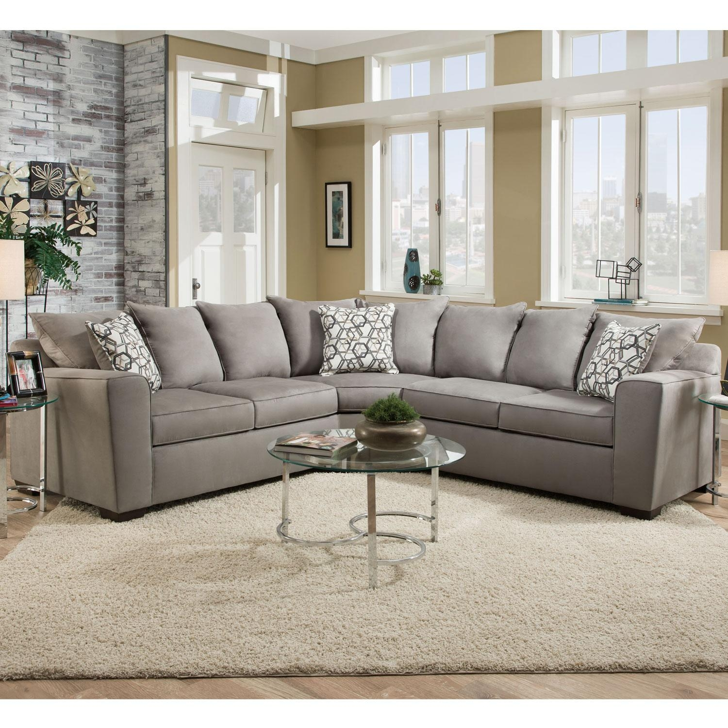 Simmons 8530Br Sectional Sofa Bellamy Slate | Hope Home In Simmons Sectional Sofas (Image 4 of 20)