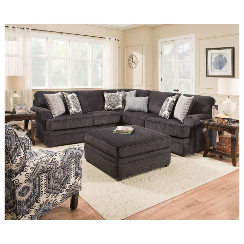 Simmons 8530Br Sectional Sofa Bellamy Slate   Hope Home Regarding Simmons Sectional Sofas (Image 5 of 20)