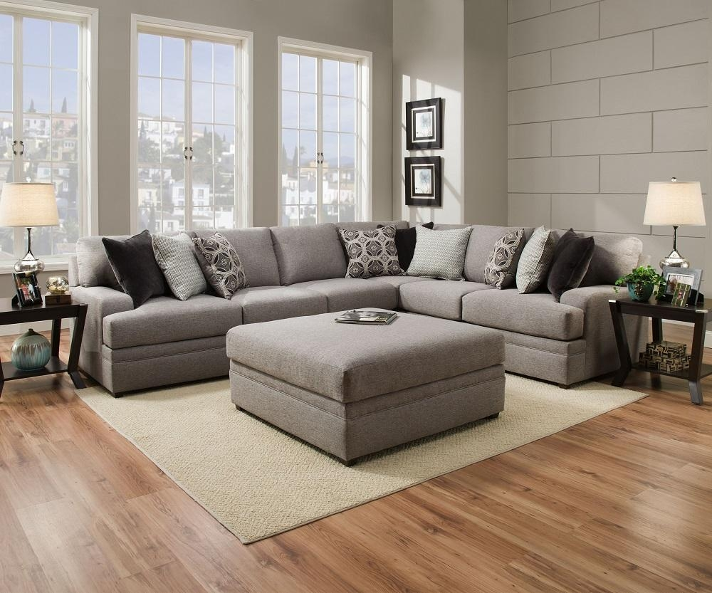 Simmons Beautyrest 8561 Pocket Coil Grey Sectional Sofa San Diego Intended For Simmons Sectional Sofas (Image 6 of 20)