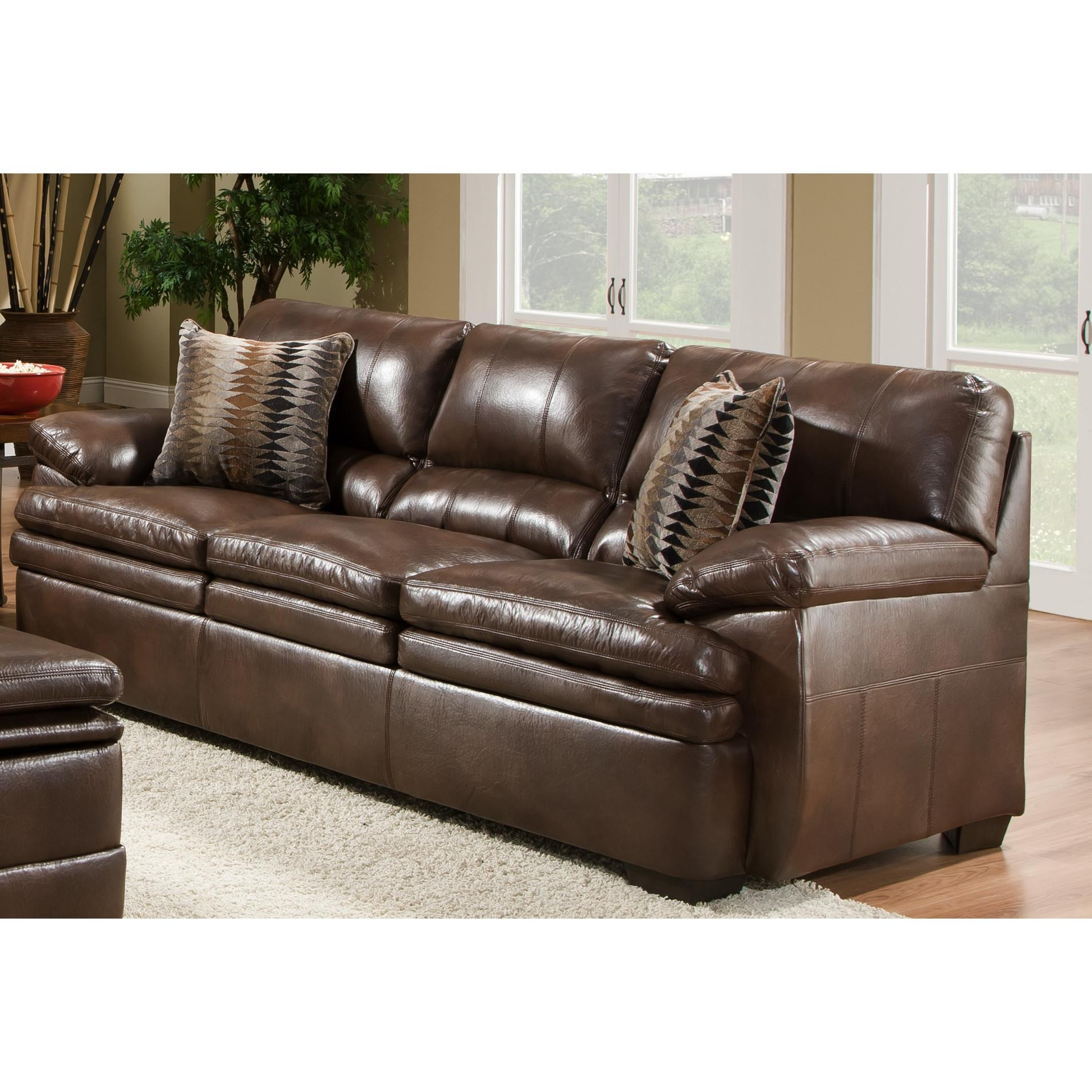 Simmons Leather Sofa | Sofa Gallery | Kengire In Simmons Leather Sofas (Image 8 of 20)