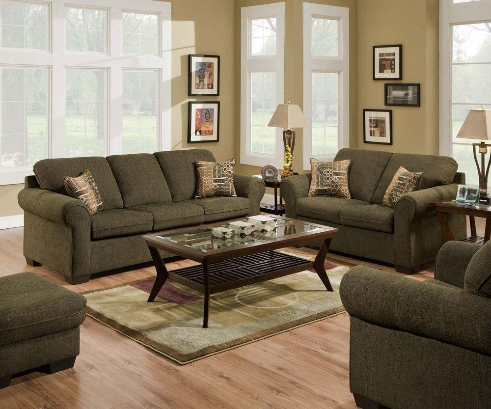 Simmons Living Room Set Sofa Set In Brass 8003Slc Traditional Regarding Simmons Sofas And Loveseats (View 12 of 20)