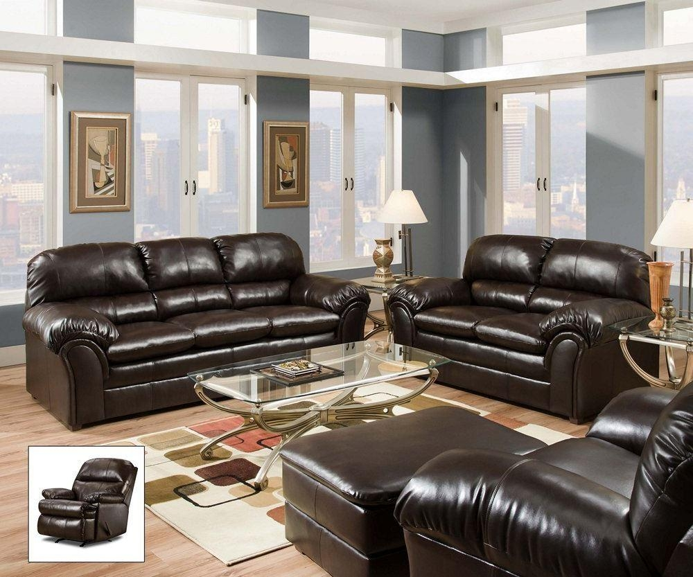 Simmons Living Room Set Sofa Set In Brass 8003Slc Traditional Throughout Simmons Leather Sofas And Loveseats (Image 8 of 20)