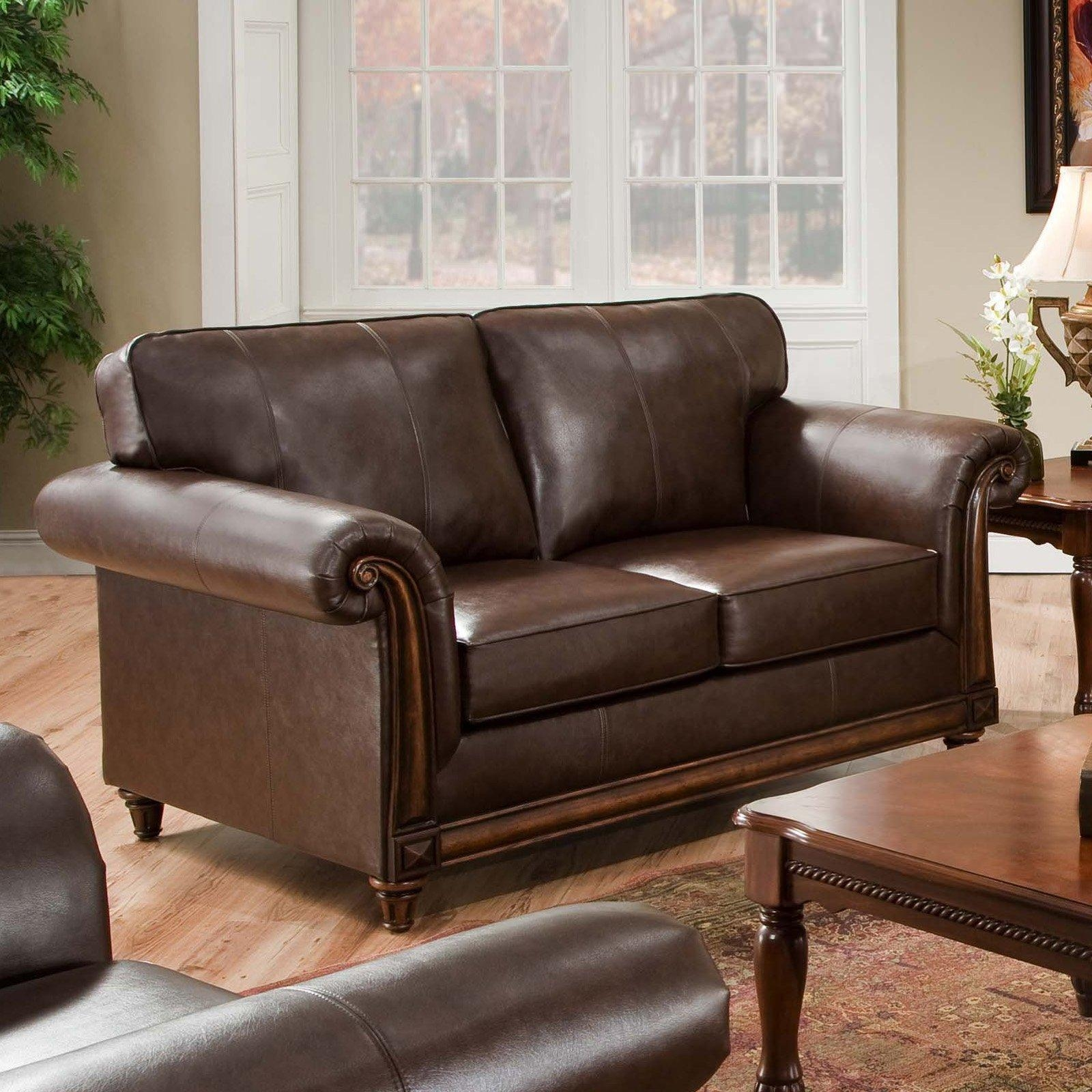Simmons San Diego Coffee Leather Sofa | Hayneedle Intended For Simmons Leather Sofas (Image 11 of 20)