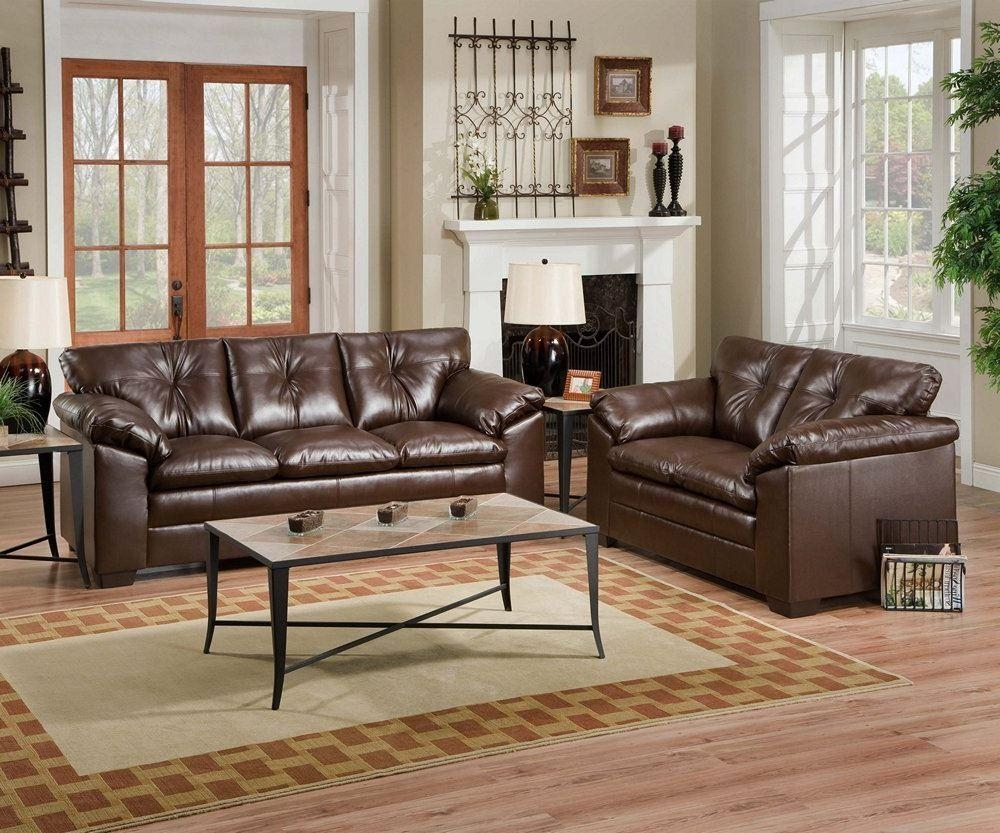 Simmons Sebring Leather Sofa Living Room Ottoman Loveseat Chair Regarding Simmons Leather Sofas And Loveseats (Image 11 of 20)