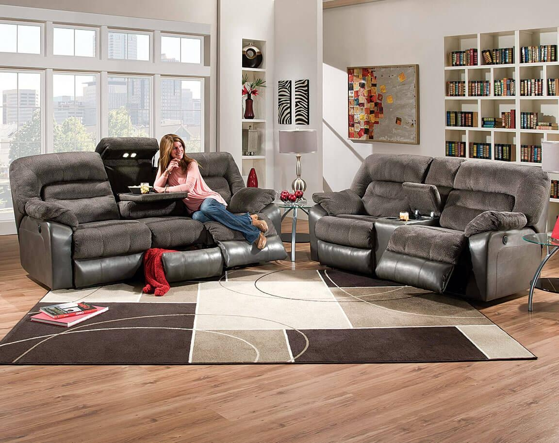 Simmons Tonto Seal Power Reclining Sofa And Loveseat In Simmons Sofas And Loveseats (View 3 of 20)