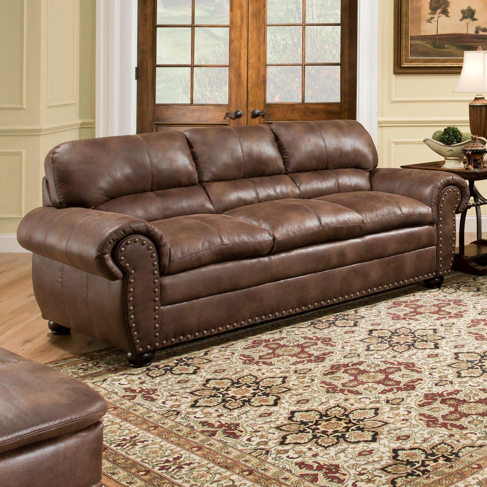Simmons Upholstery Padre Sofa – Espresso | Hayneedle Regarding Simmons Sofas And Loveseats (Image 13 of 20)