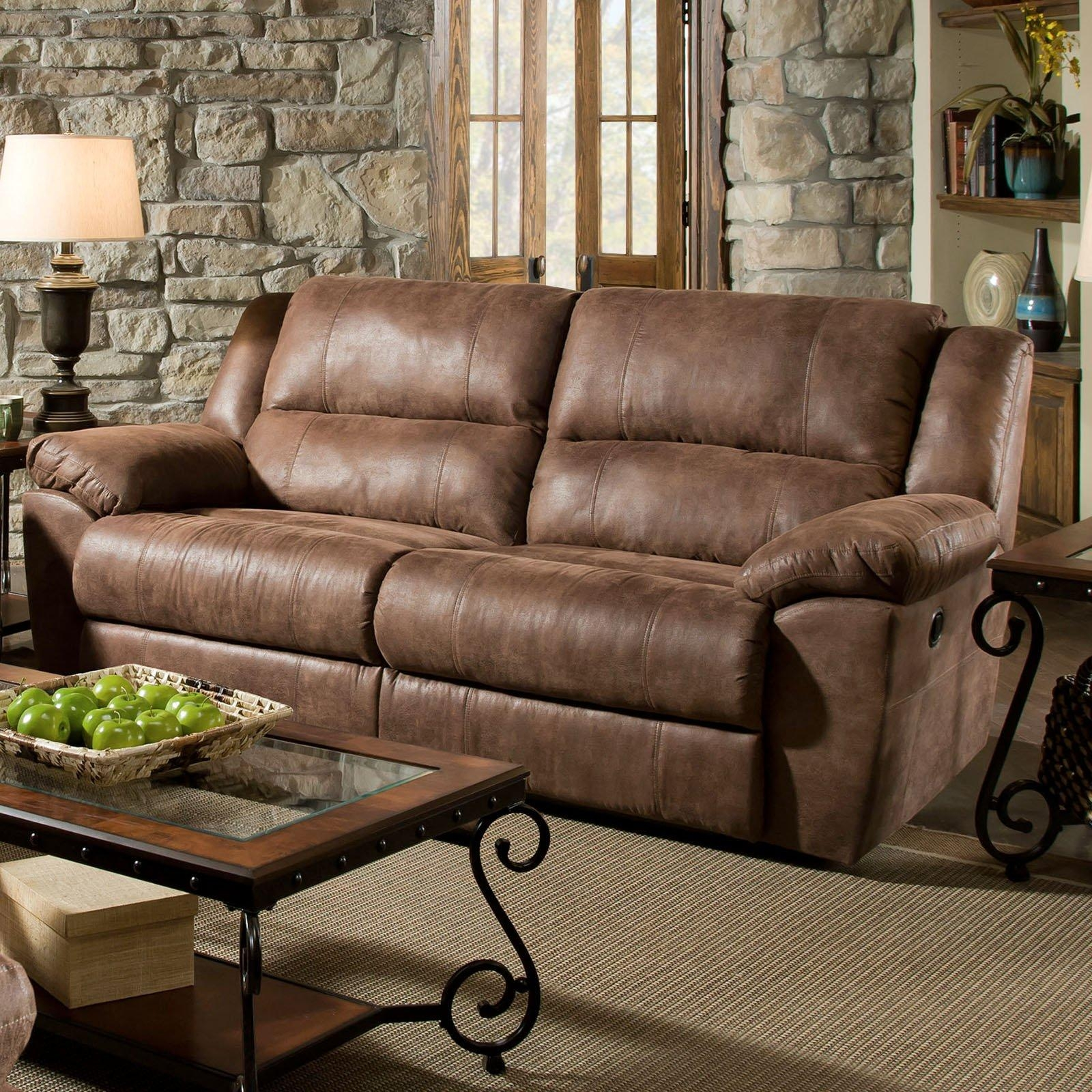 Simmons Upholstery Phoenix Double Motion Sofa – Mocha – Walmart In Simmons Sofas (Image 13 of 20)