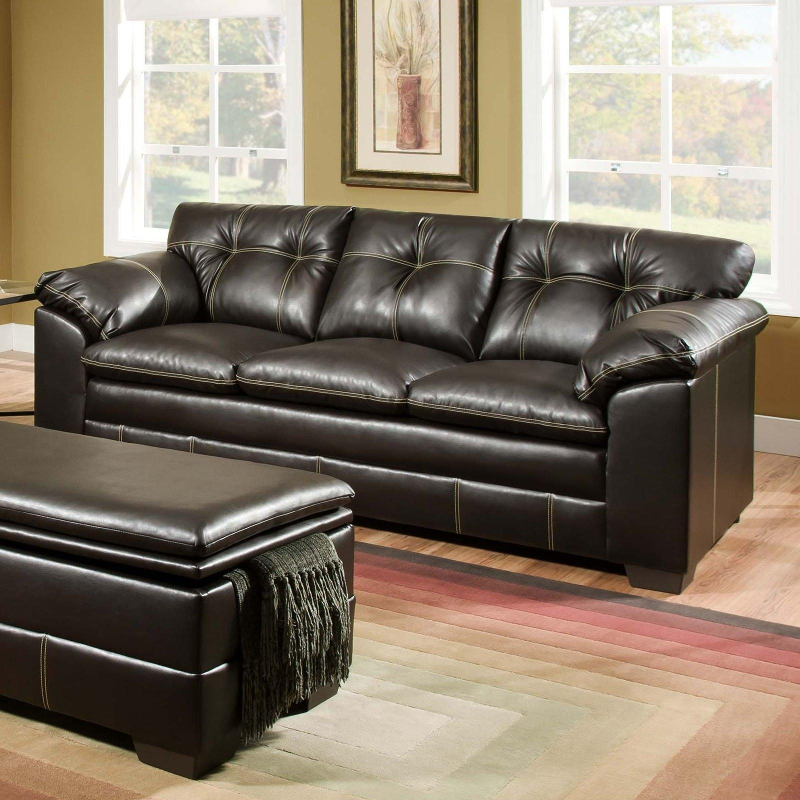 Simmons Upholstery Premier Bonded Leather Sofa | Hayneedle In Simmons Bonded Leather Sofas (View 5 of 20)