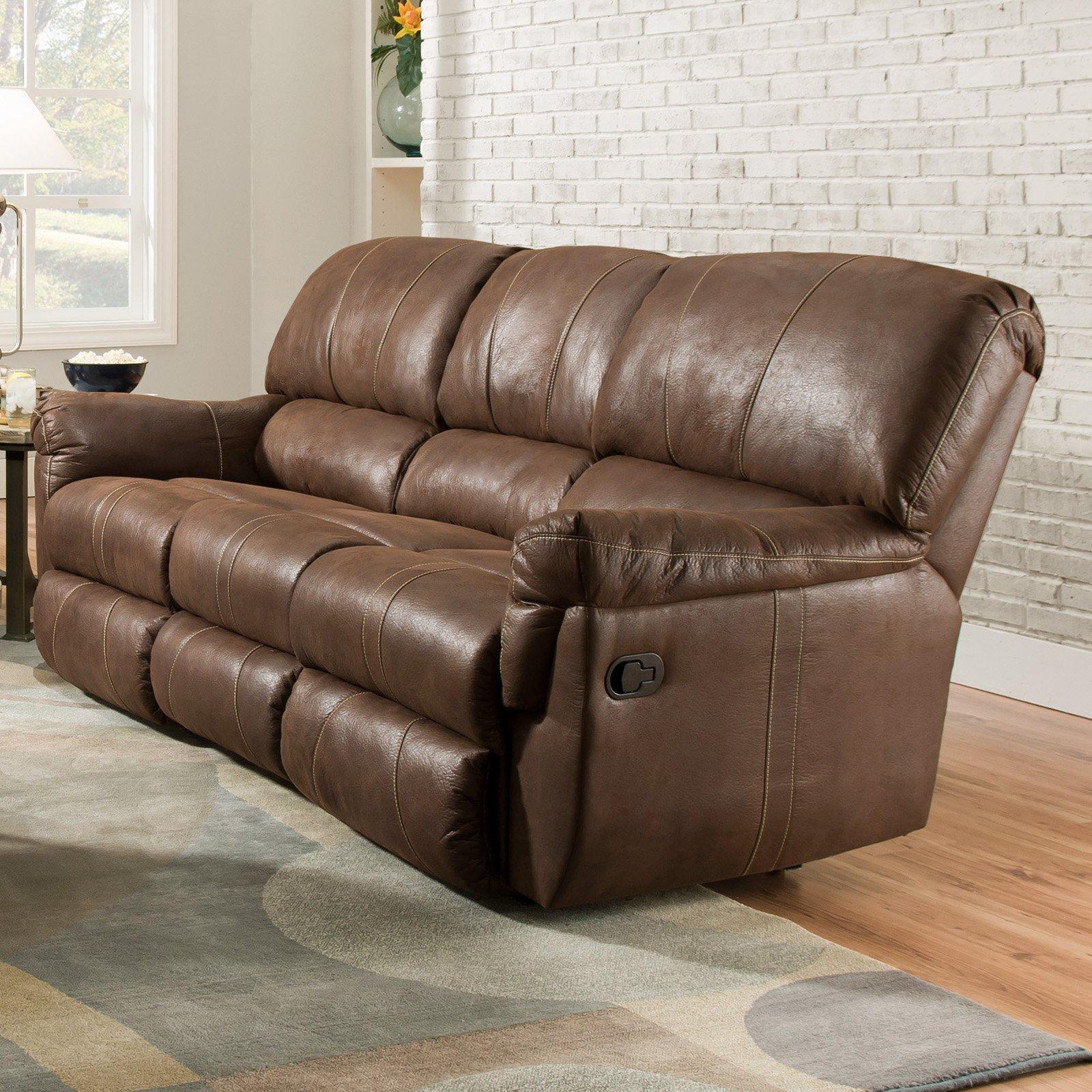 Simmons Upholstery Wisconsin Beautyrest Sofa – Chocolate | Hayneedle Regarding Simmons Leather Sofas (Image 17 of 20)