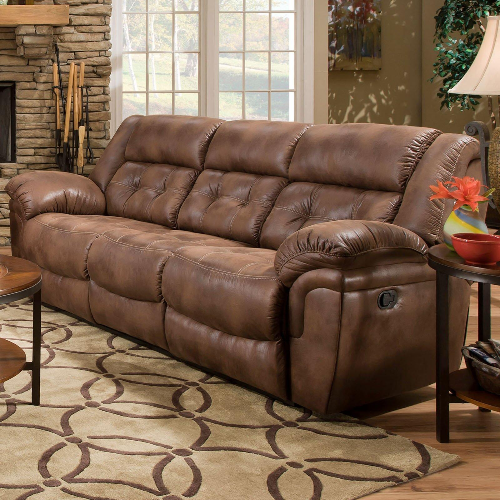 Simmons Upholstery Wisconsin Beautyrest Sofa – Chocolate | Hayneedle With Simmons Sofas (Image 14 of 20)