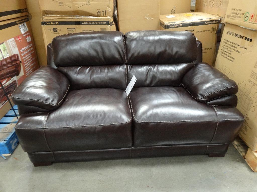Simon Li Hunter Leather Loveseat With Simon Li Loveseats (Image 9 of 20)