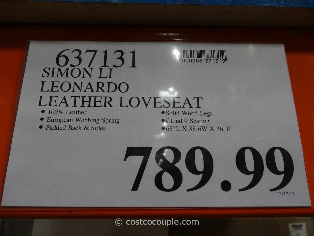 Simon Li Leonardo Leather Loveseat For Simon Li Loveseats (View 13 of 20)
