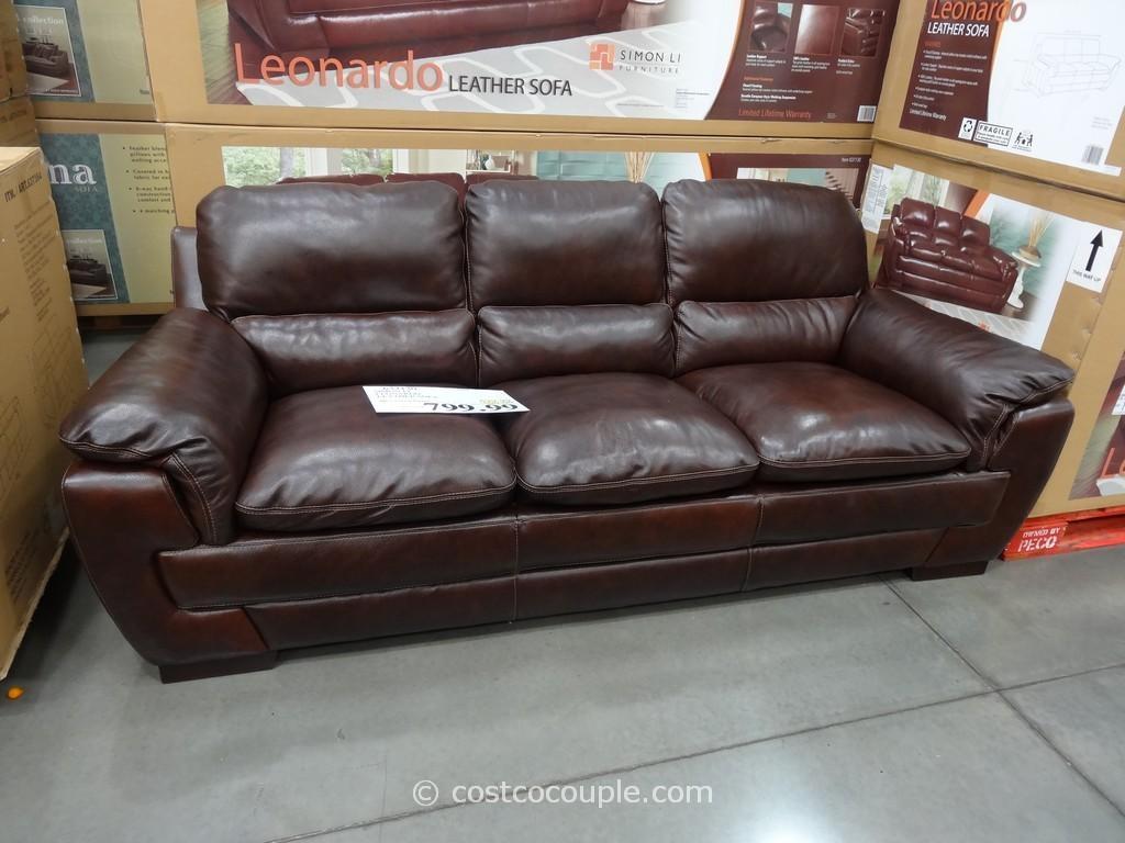 Simon Li Leonardo Leather Sofa With Regard To Simon Li Loveseats (View 7 of 20)