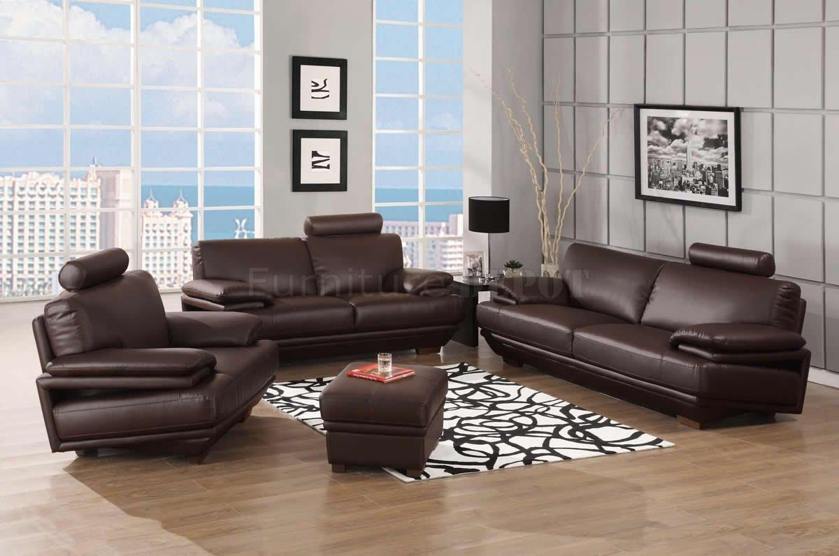 Simple Brown Leather Sofa Sets And Loveseat Set On Design Inspiration With Regard To Contemporary Brown Leather Sofas (View 6 of 20)